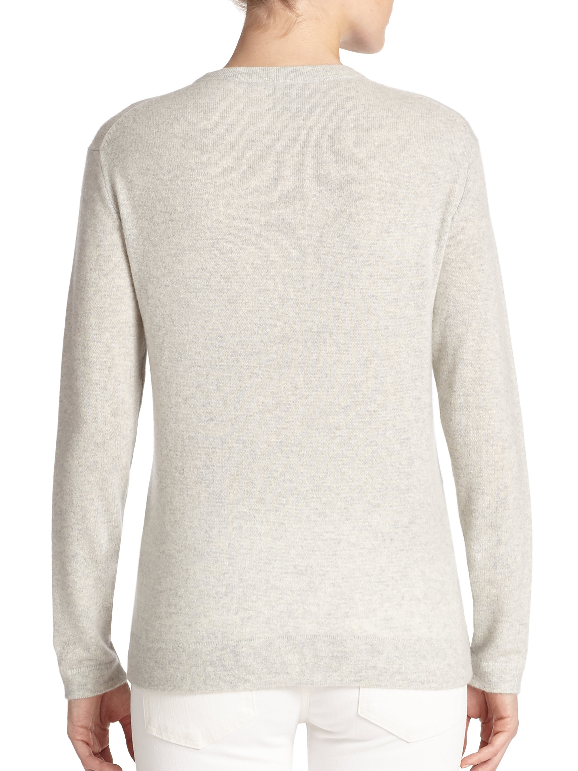 Polo ralph lauren Cashmere Crewneck Sweater in Gray | Lyst