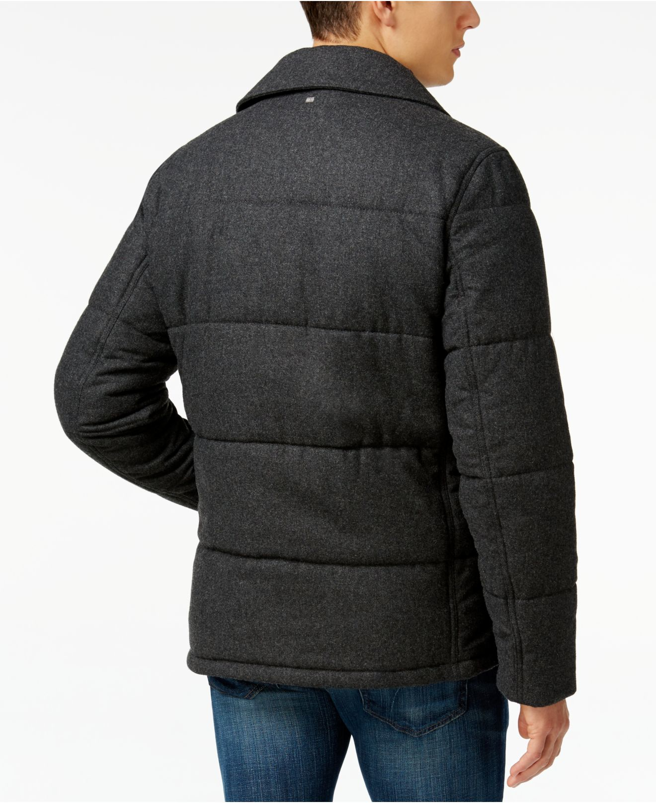 Lyst - Tommy hilfiger Ash Quilted Peacoat in Gray for Men : quilted pea coat - Adamdwight.com