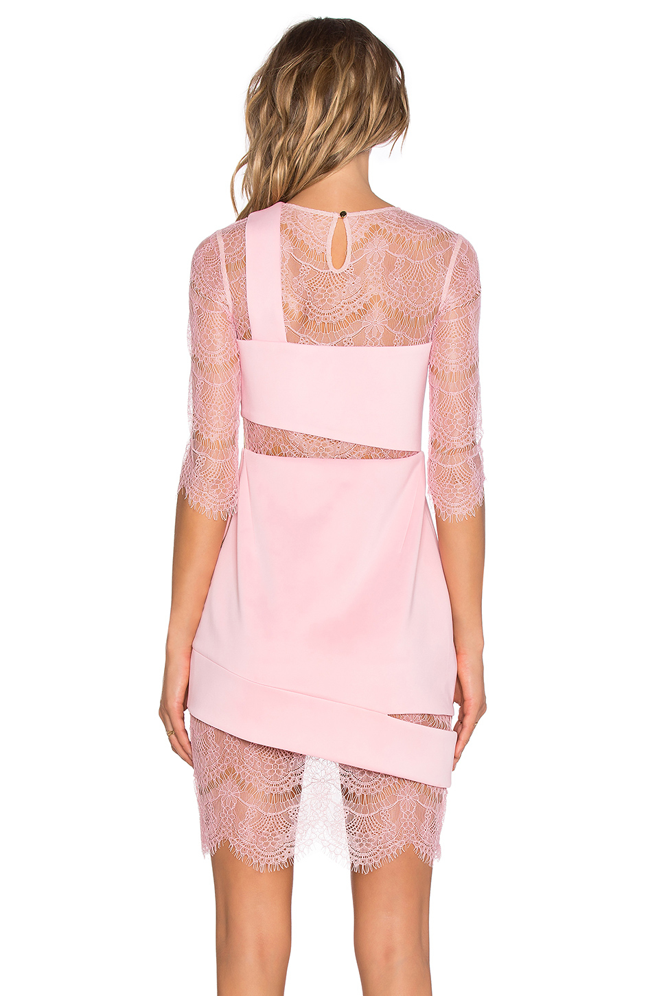 Three floor aura mini dress in pink lyst for Three floor yellow dress