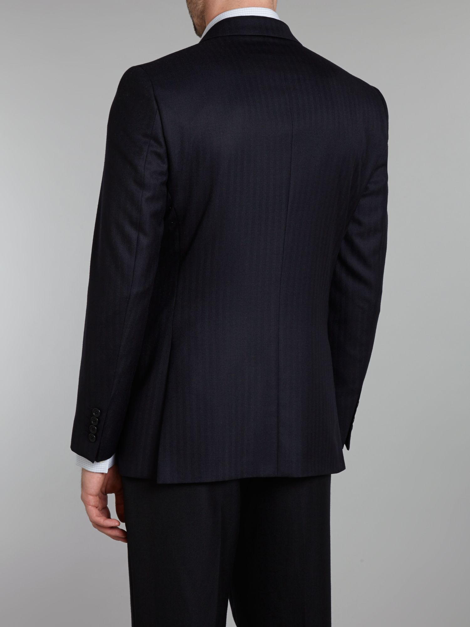 Aquascutum Pritchard Herringbone Jacket in Navy (Blue) for Men