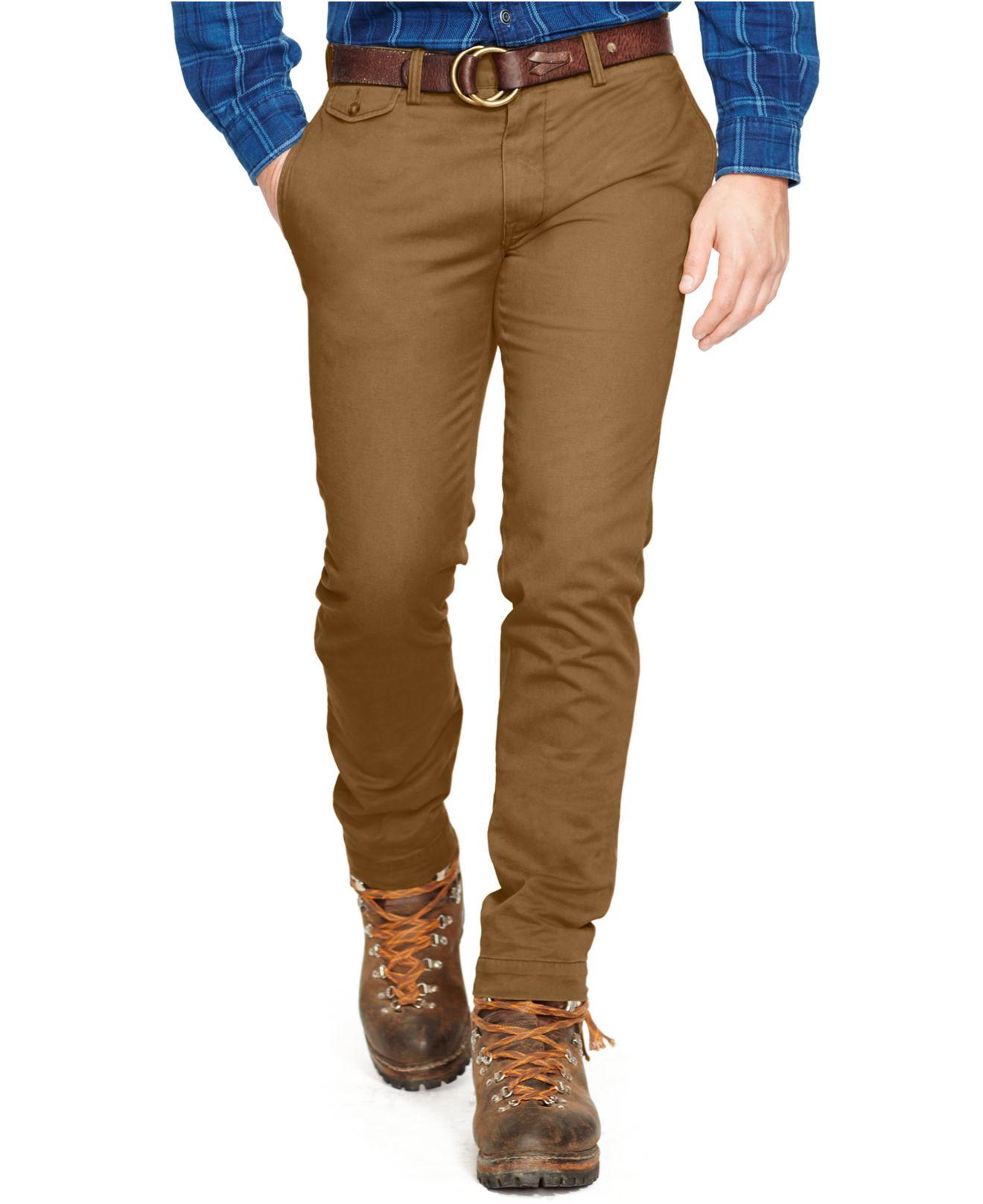 Slim Pants Men Green Ralph Polo Fit Lauren For Bedford Chino xoBCerdW