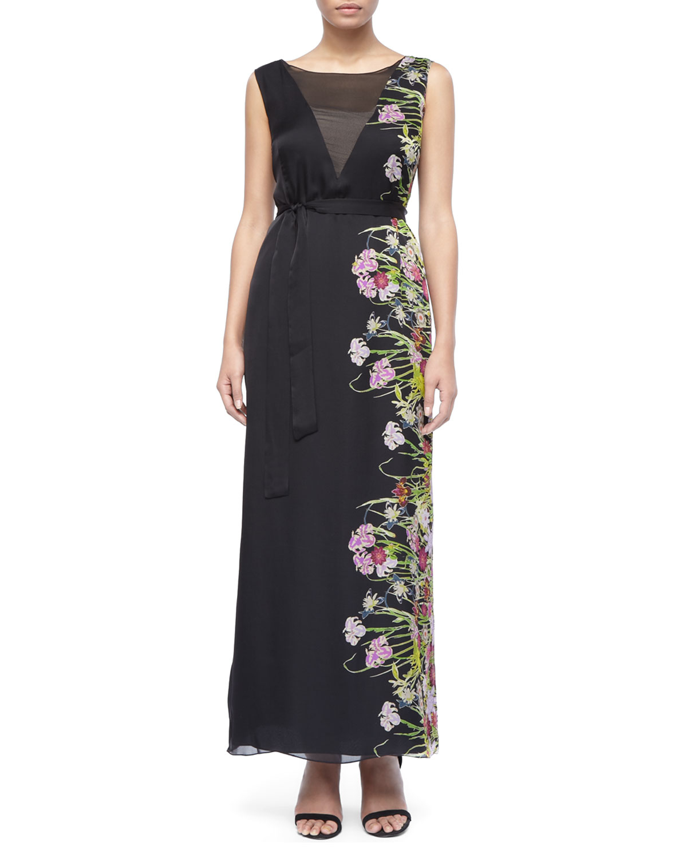 Marina Rinaldi Desire Floralside Maxi Dress In Black Lyst