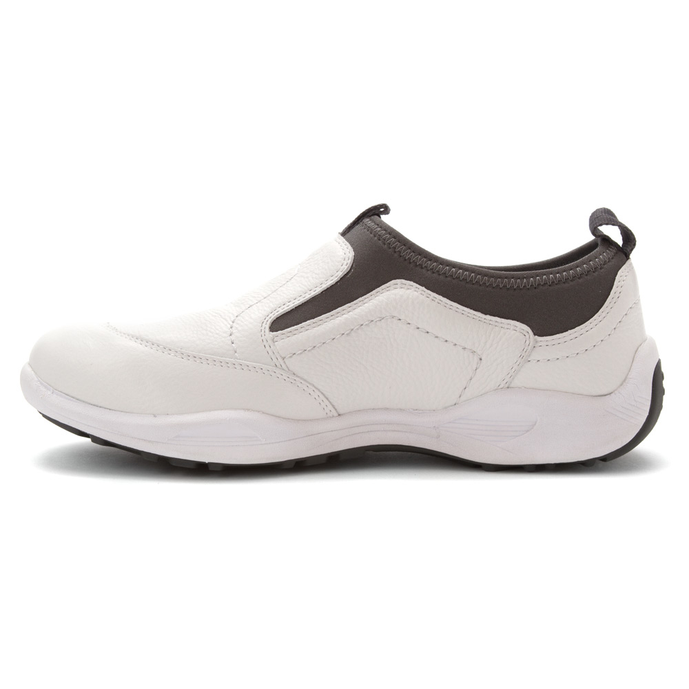 propet wash wear pro slip on in white for lyst