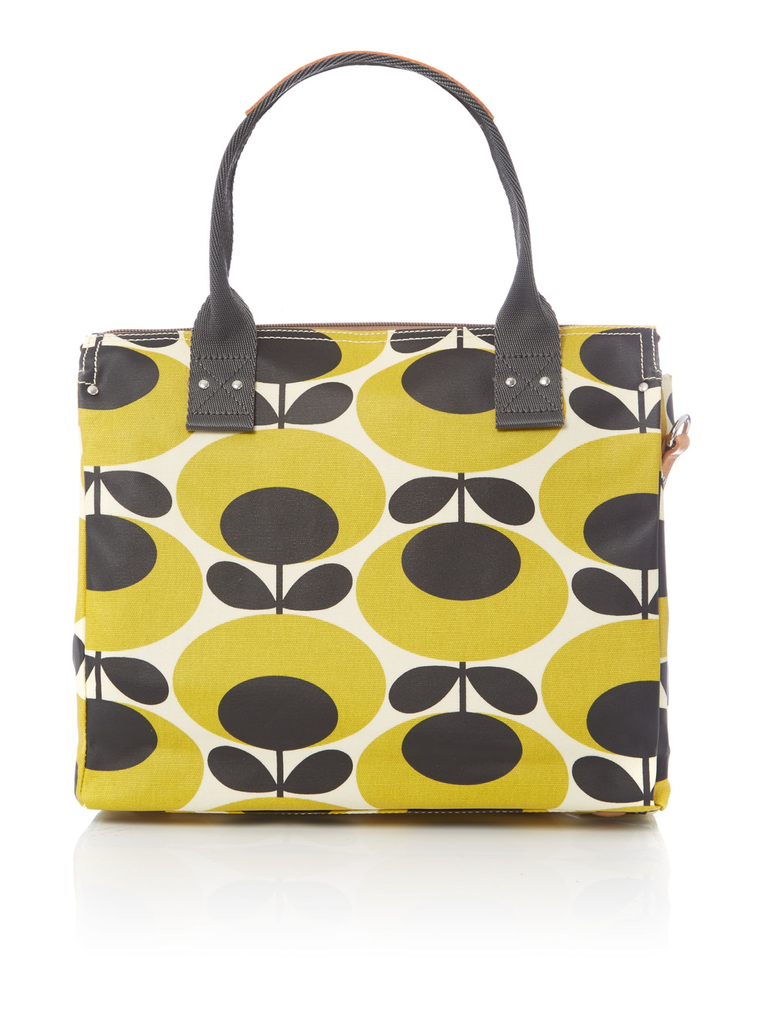 orla kiely giant oval yellow zip messenger bag in yellow. Black Bedroom Furniture Sets. Home Design Ideas
