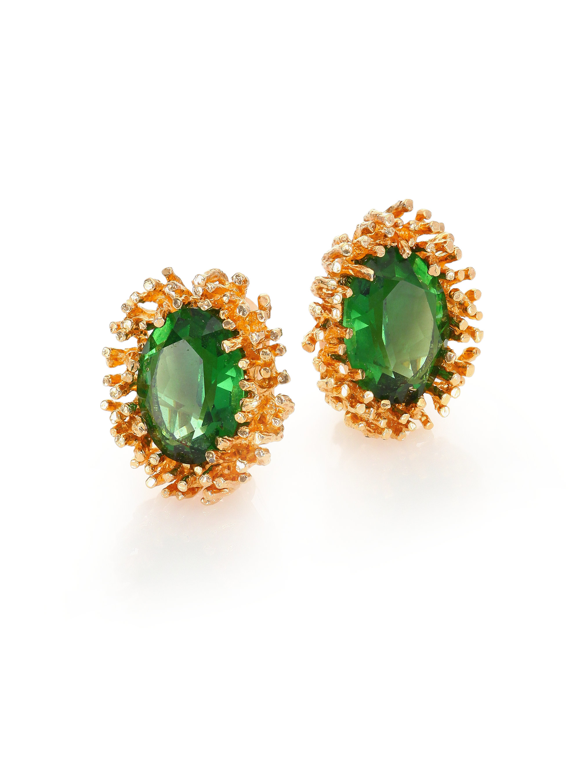a0ab7d46a House of Lavande 1950s Vintage Faceted Clip-on Stud Earrings in ...