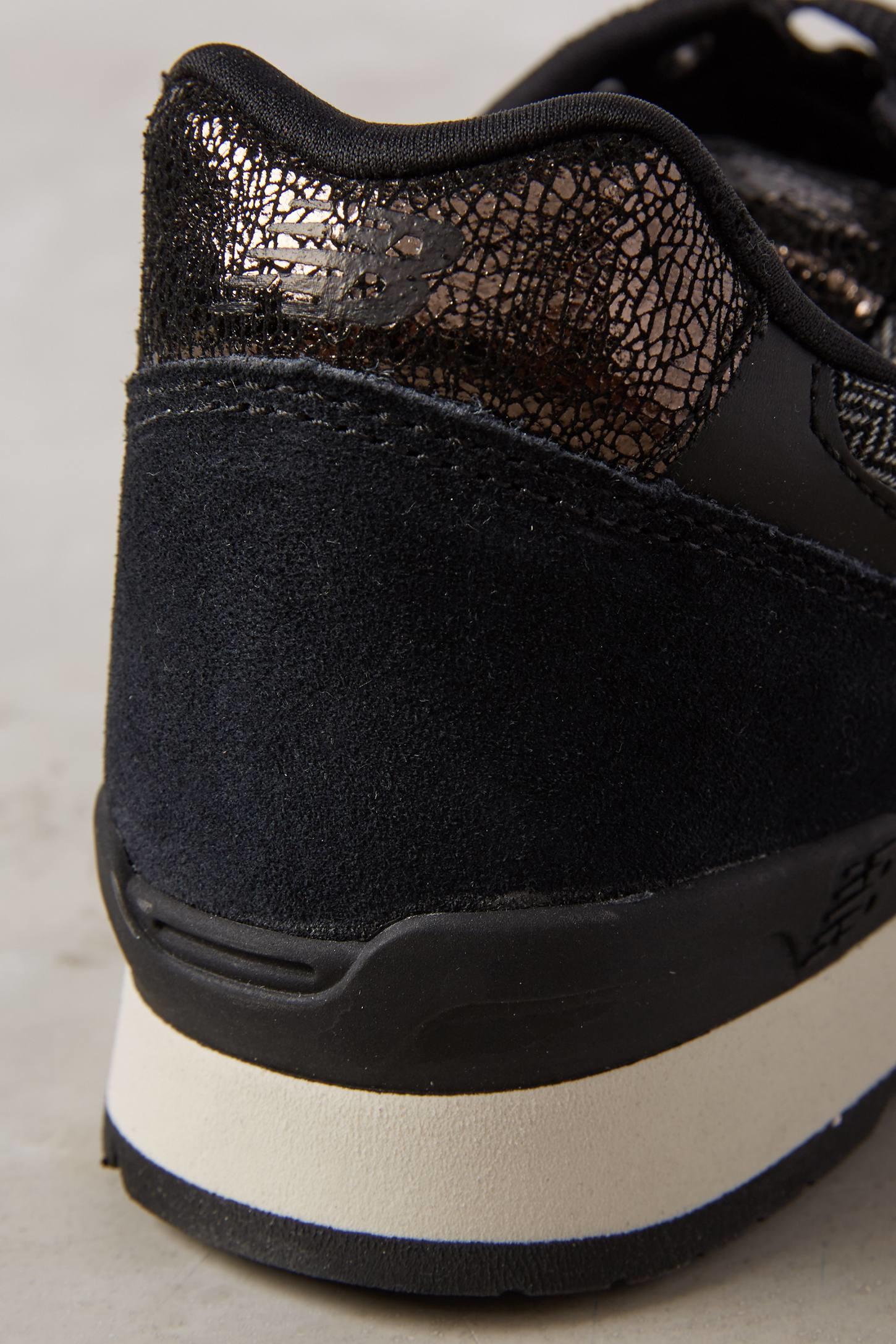 new balance capsule metallic sneakers in black lyst. Black Bedroom Furniture Sets. Home Design Ideas