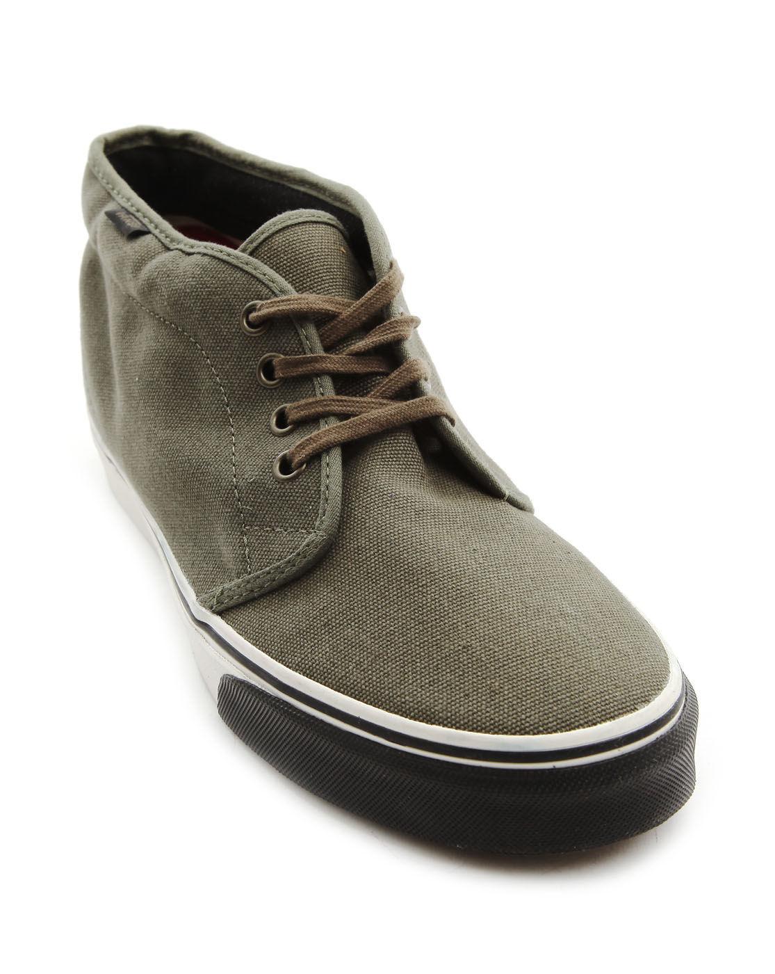 Vans Chukka Boot Canvas Sneakers in Green for Men | Lyst