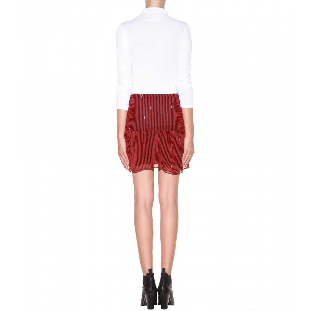 Étoile Isabel Marant Cary Printed Skirt in Red