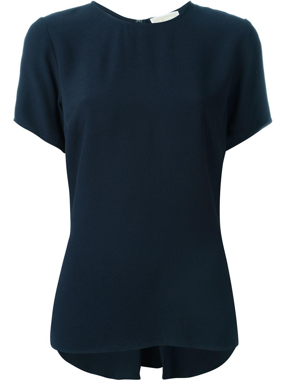 michael michael kors shortsleeved t shirt in blue lyst. Black Bedroom Furniture Sets. Home Design Ideas