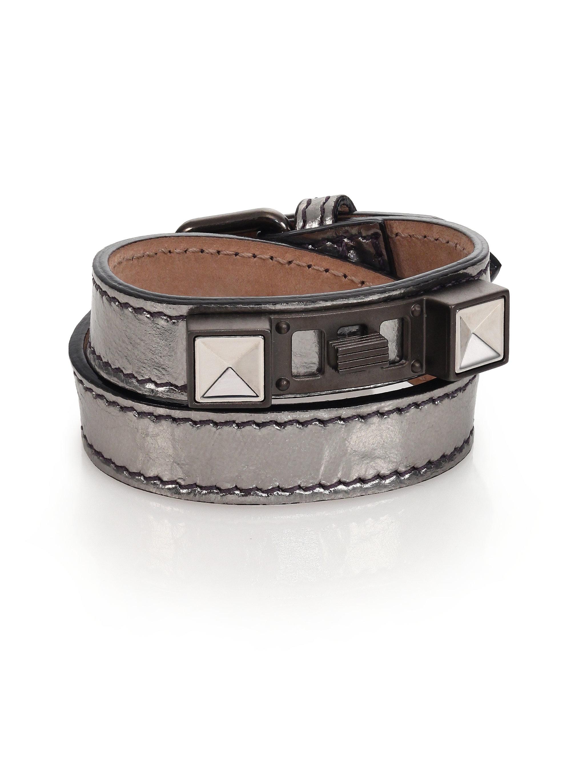 Proenza schouler Ps11 Metallic Leather Bracelet in ...