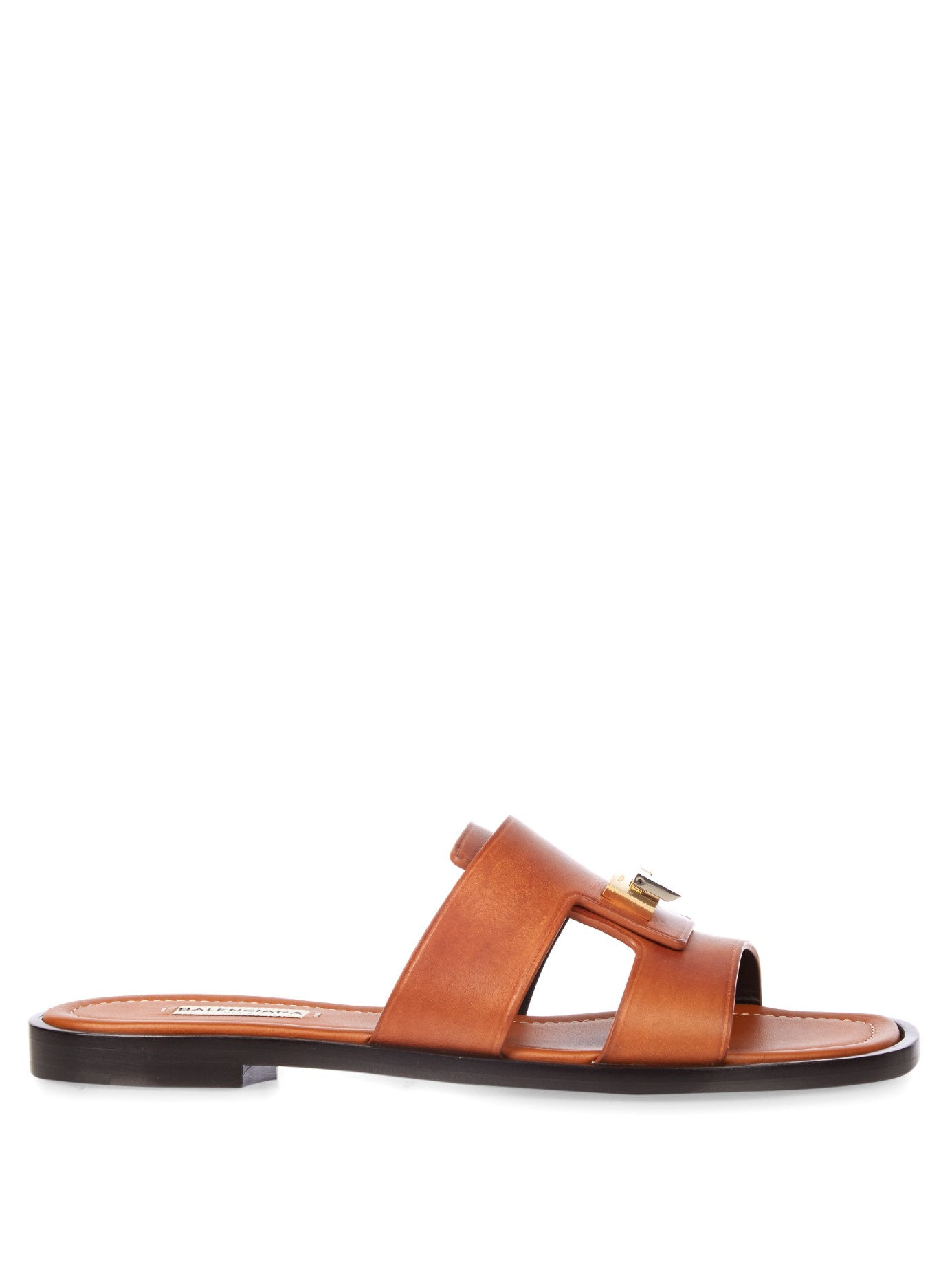For sale online cheap price pre order Balenciaga Tan Leather Sandals shop for cheap online clearance store sale online vw5jTJewkJ