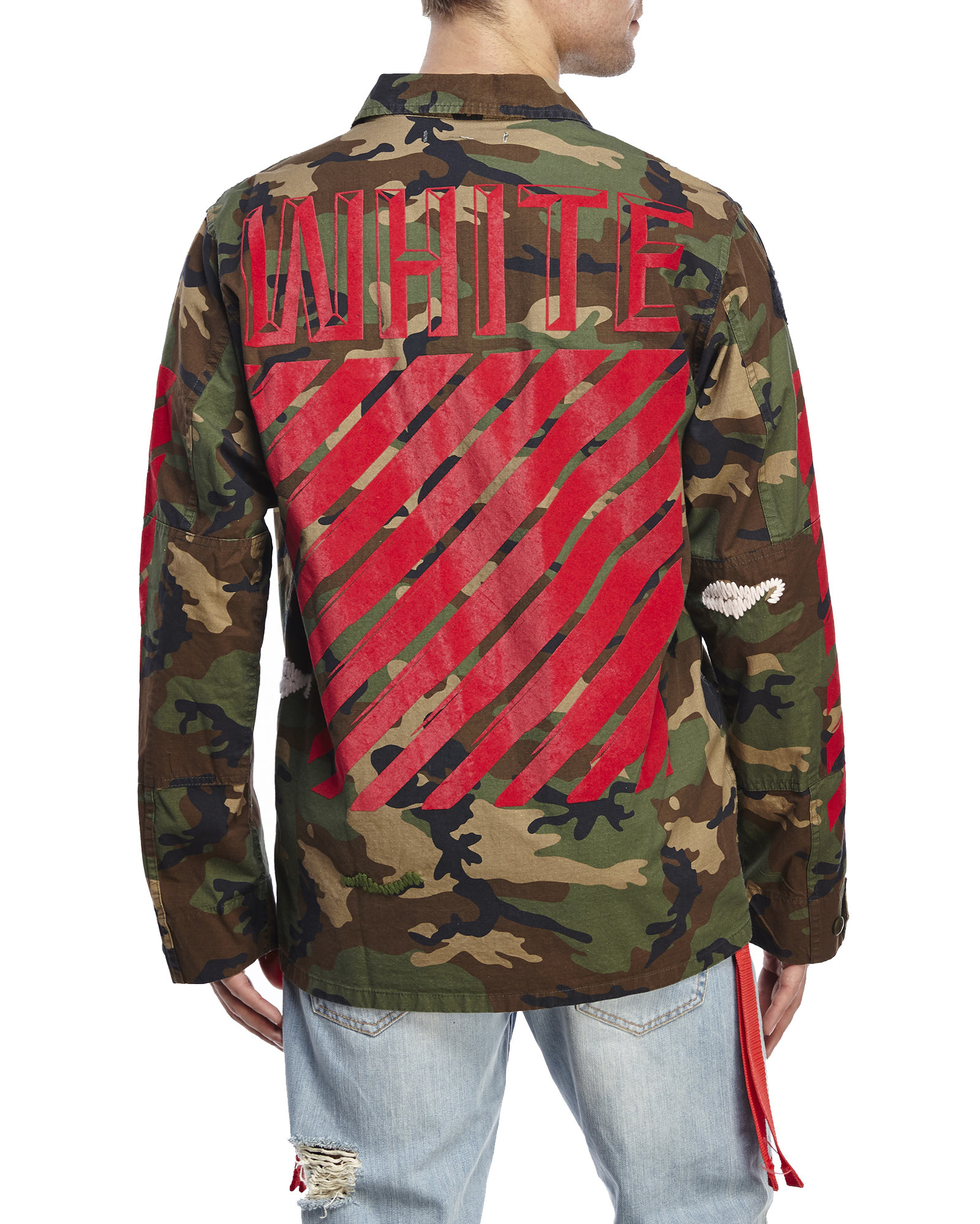 Off White Spring Summer 2017 Women S Collection: Off-White C/O Virgil Abloh Embroidered Camouflage