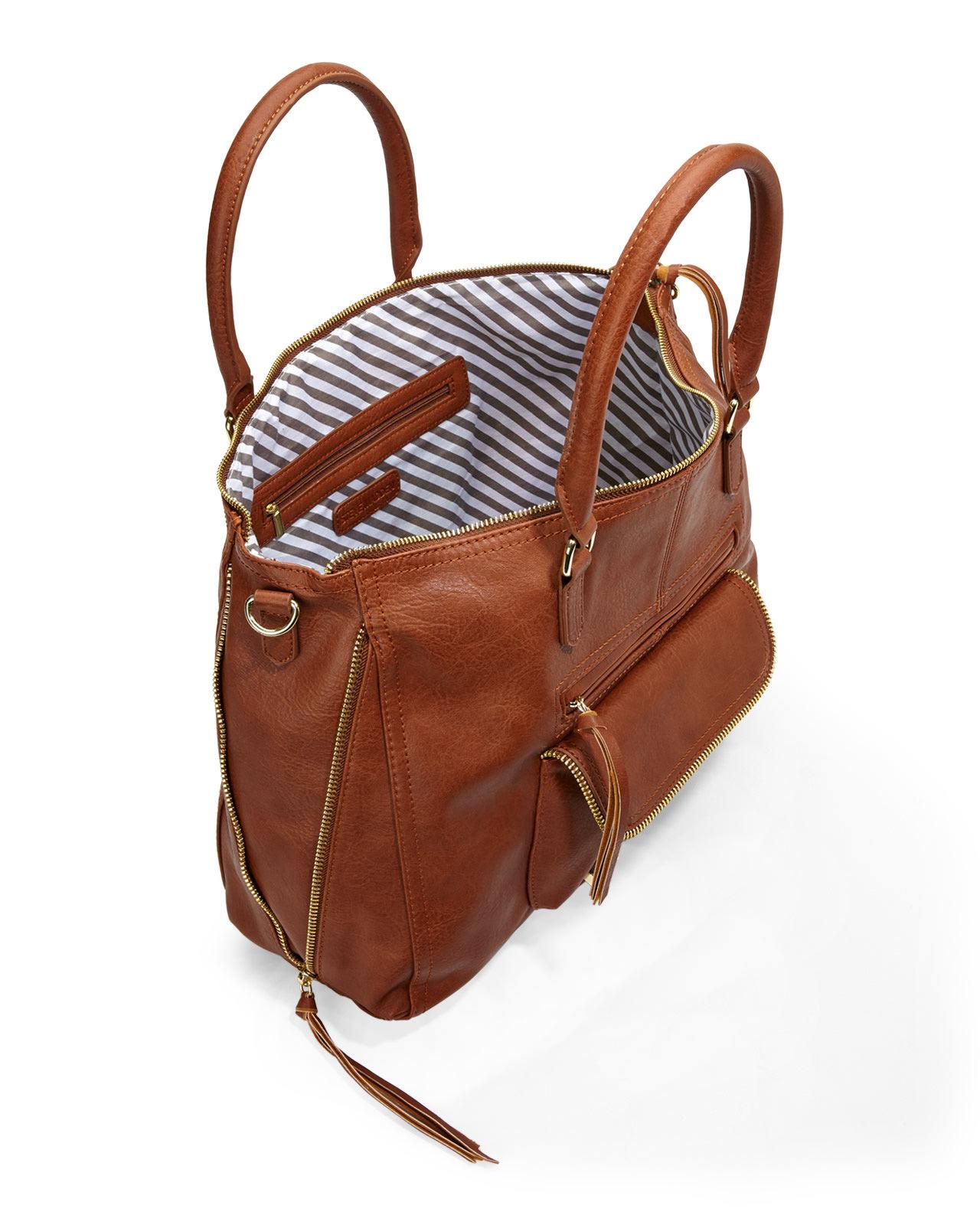 Steve madden Cognac Broyale Tote Bag in Brown | Lyst