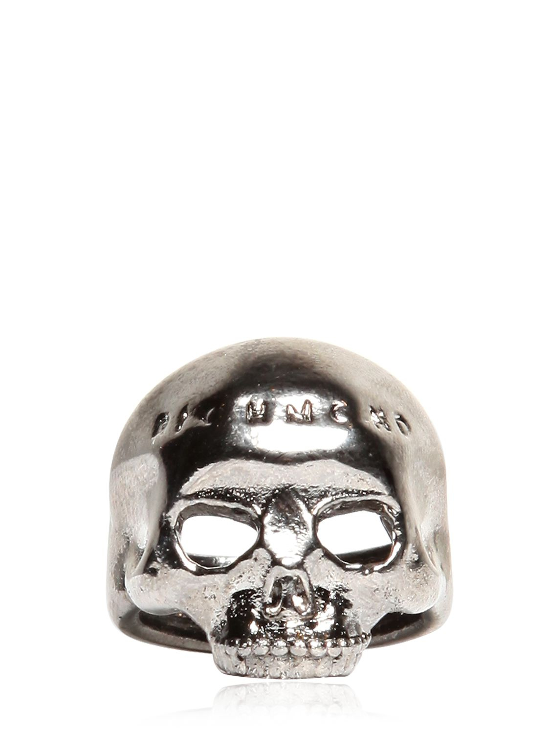richmond x skull ring in silver for lyst