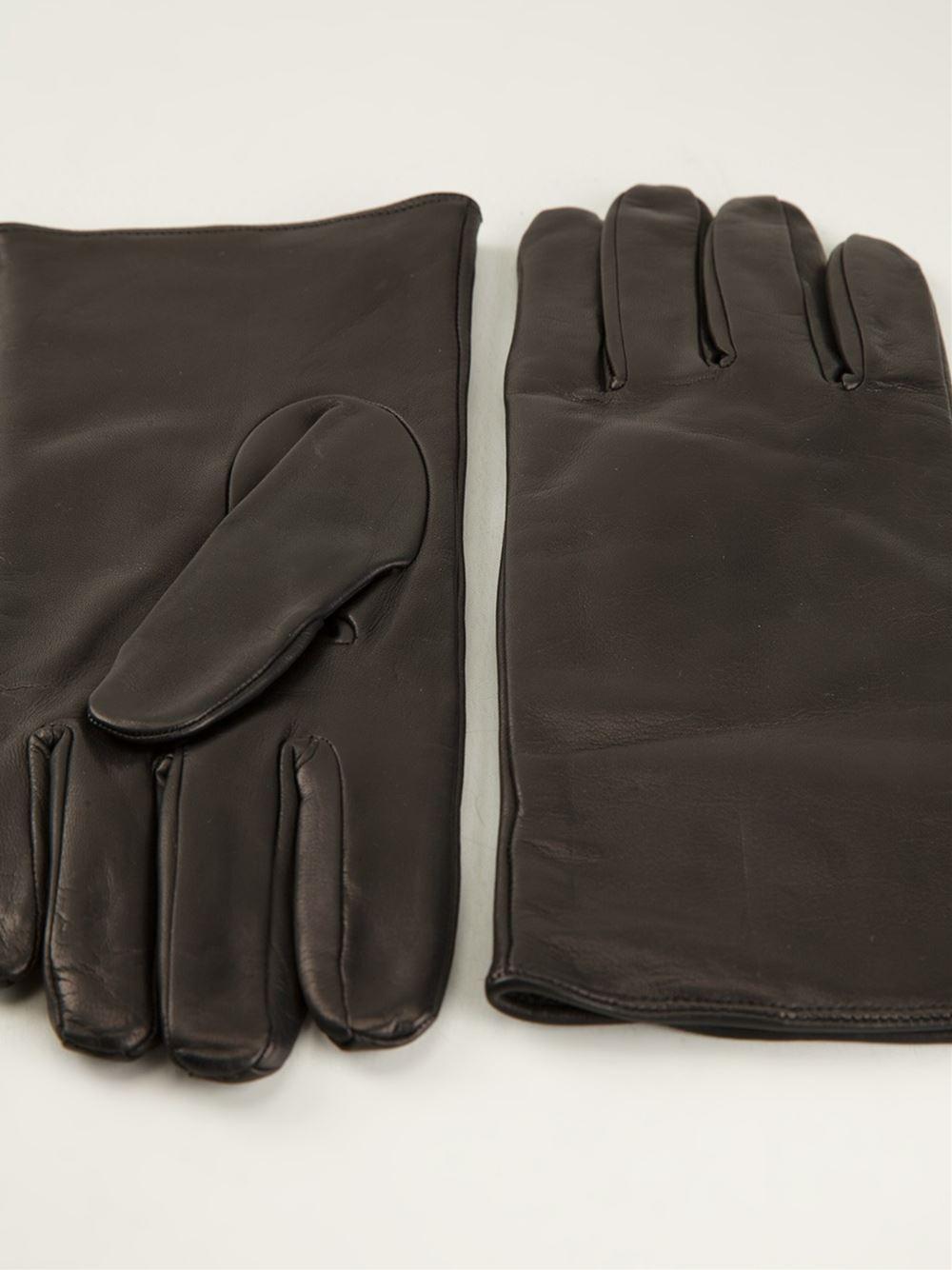 Dents Mens Mahogany York Lambskin Gloves Brown