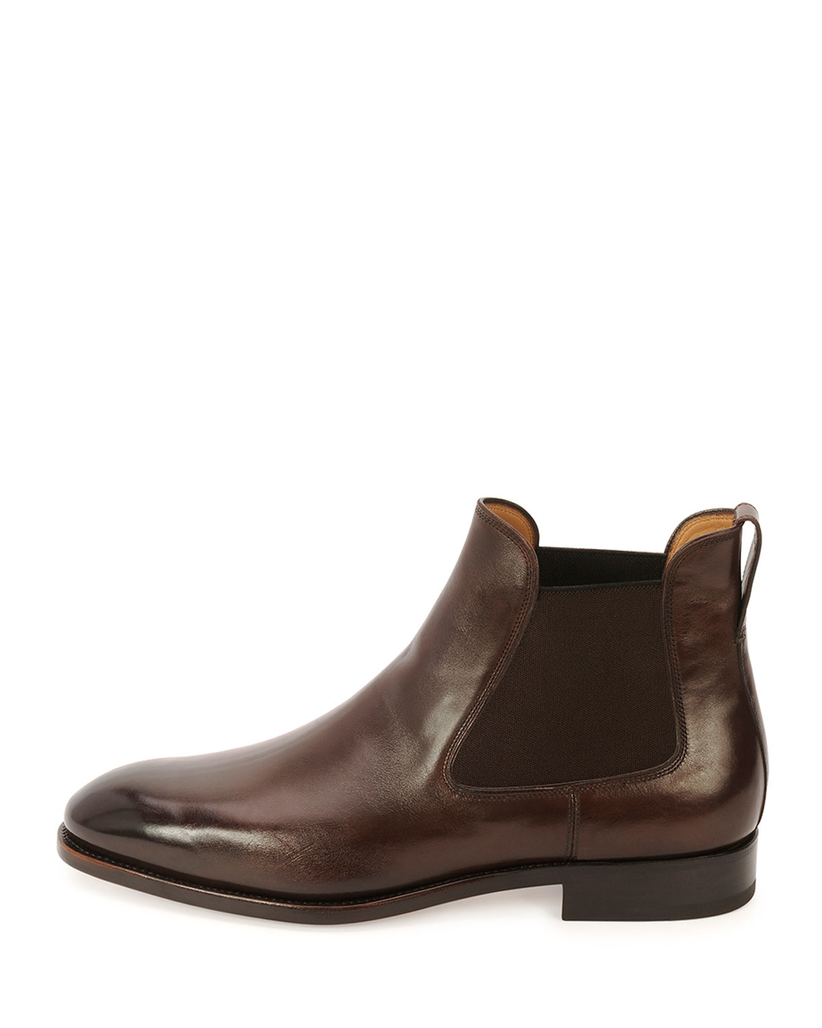 ferragamo marrico tramezza burnished calfskin chelsea boot