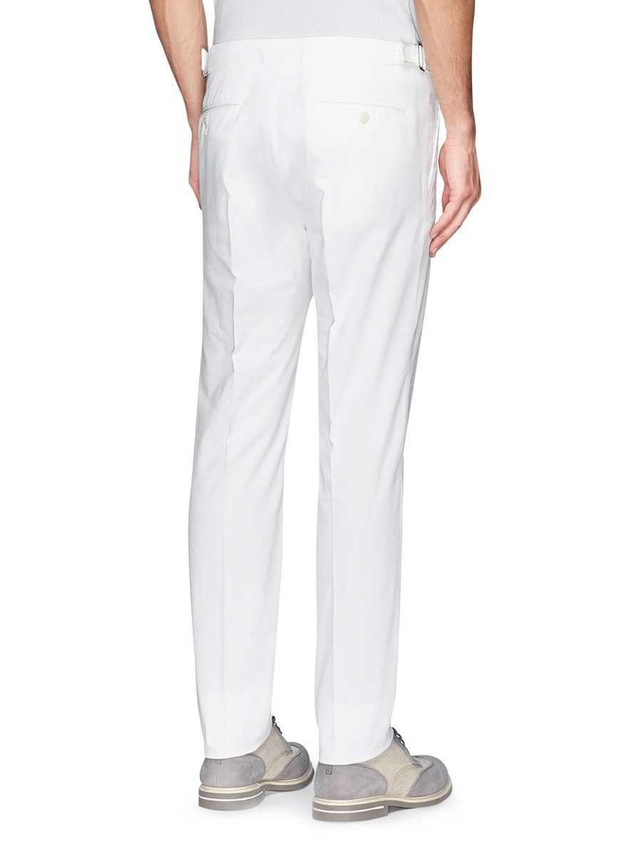 Fa 231 Onnable Side Adjuster Cotton Twill Pants In White For