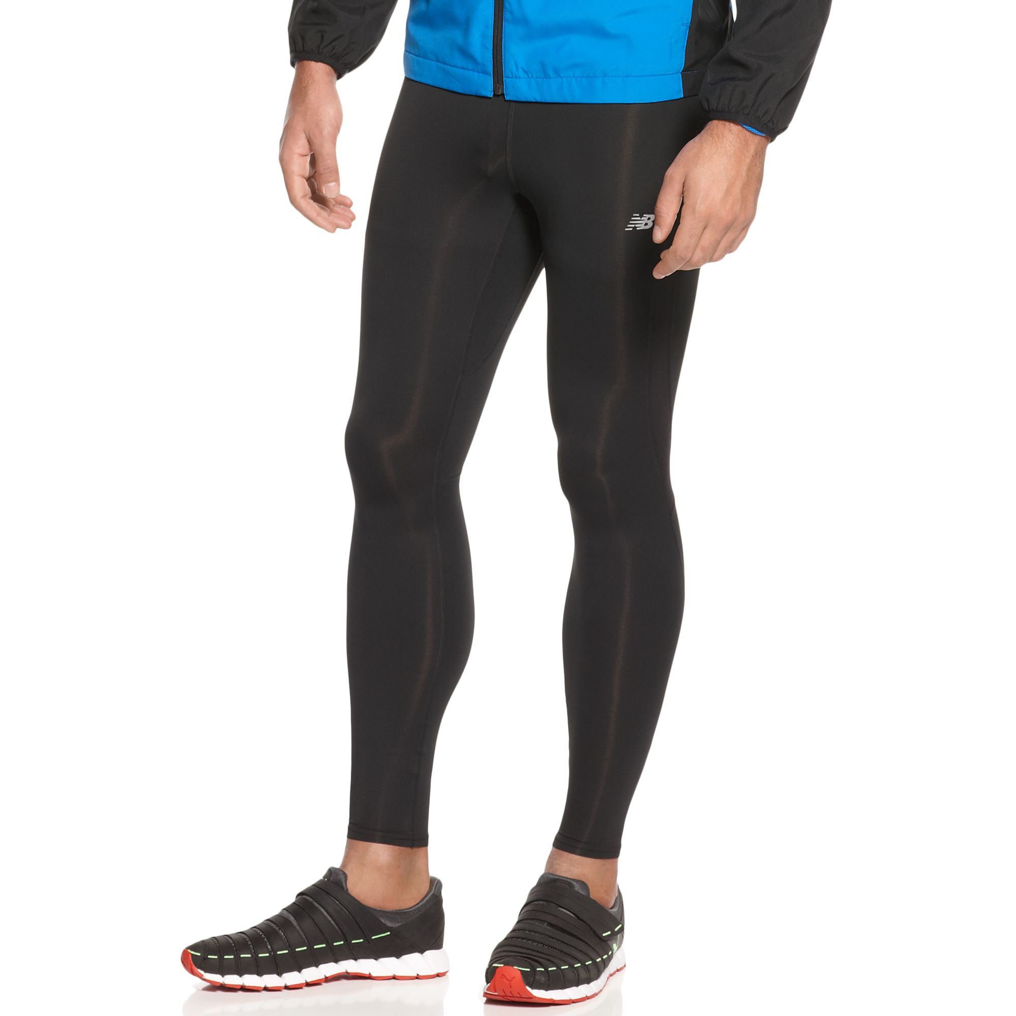 New balance Running Tights in Black for Men   Lyst