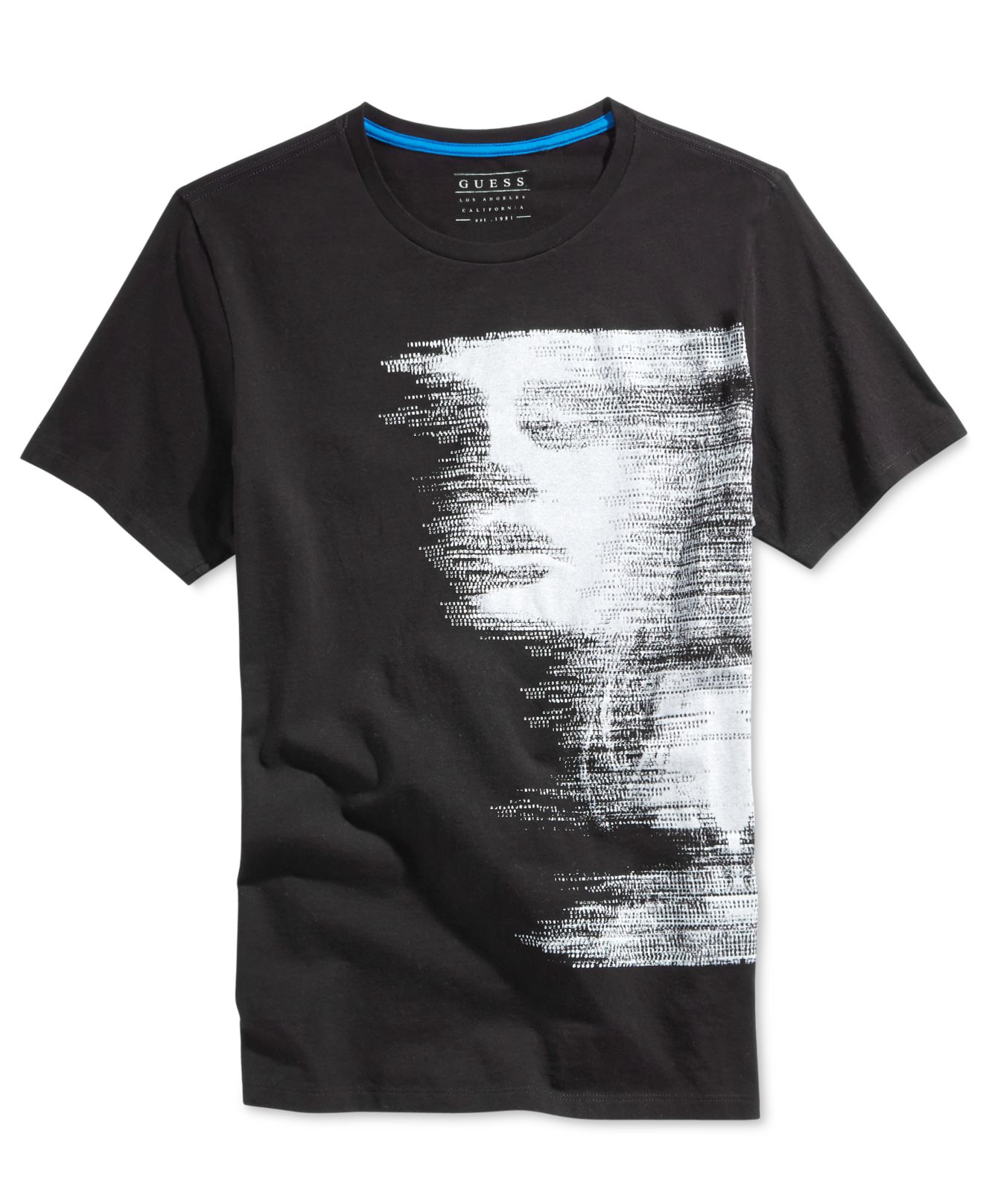 Lyst Guess Mens Subliminal Graphic Print T Shirt In Black For Men