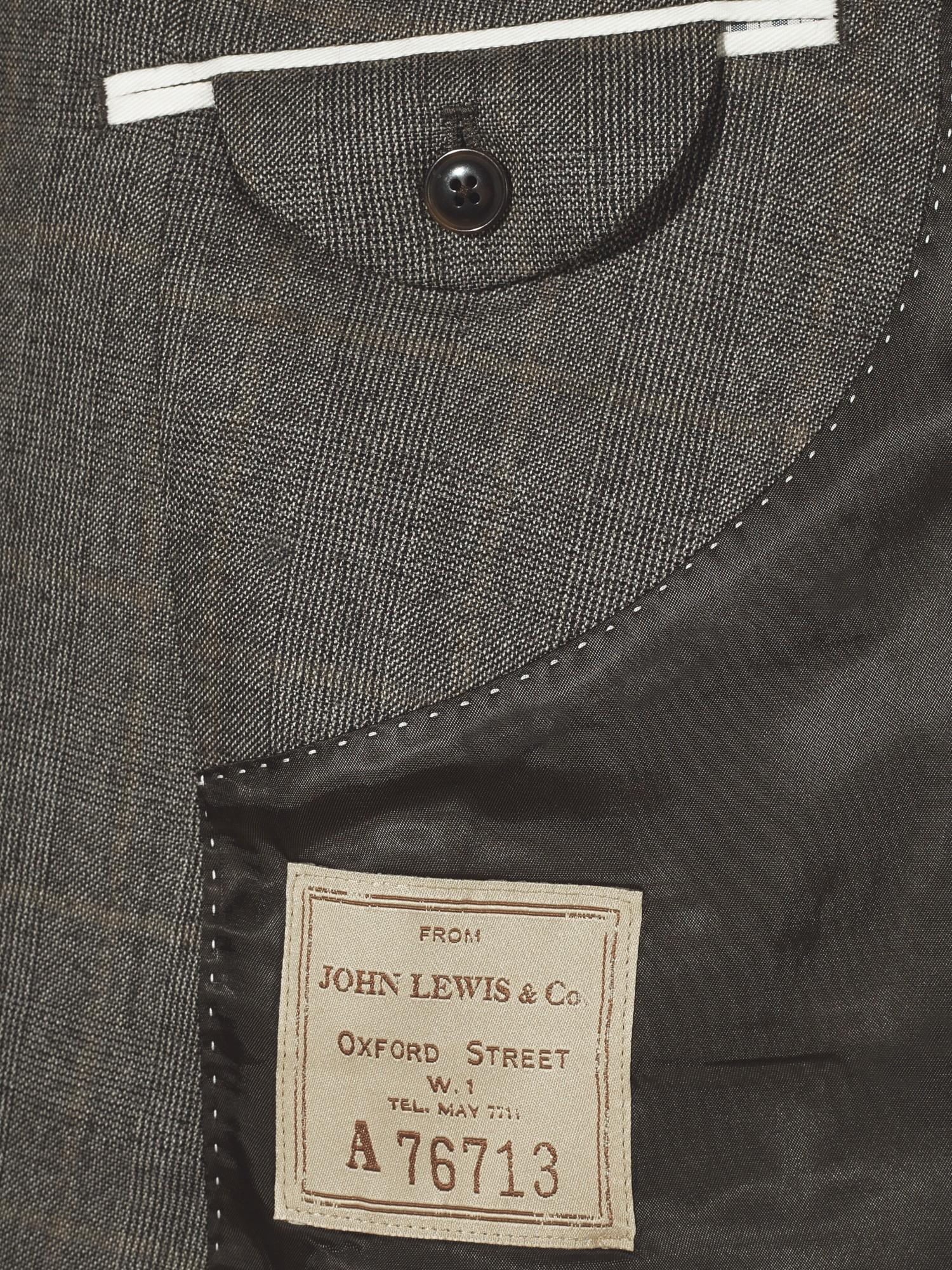 John Lewis Wool Hanbury Milled Prince Of Wales Check Suit Jacket for Men