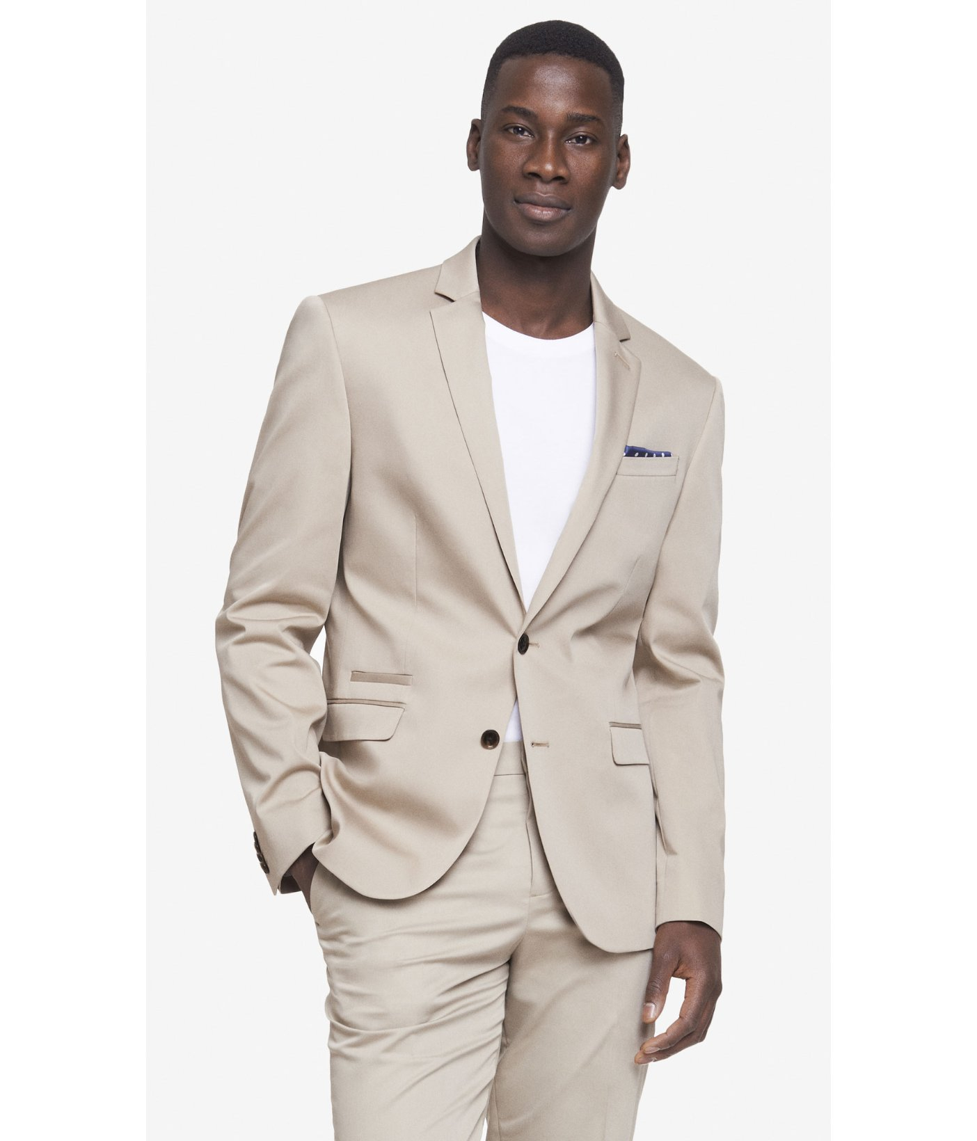 Lyst - Express Cotton Sateen Photographer Suit Jacket in Gray for Men