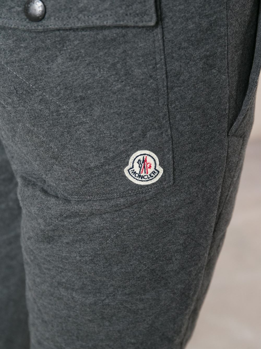 Moncler Quilted Track Pants in Gray for Men   Lyst : mens quilted pants - Adamdwight.com