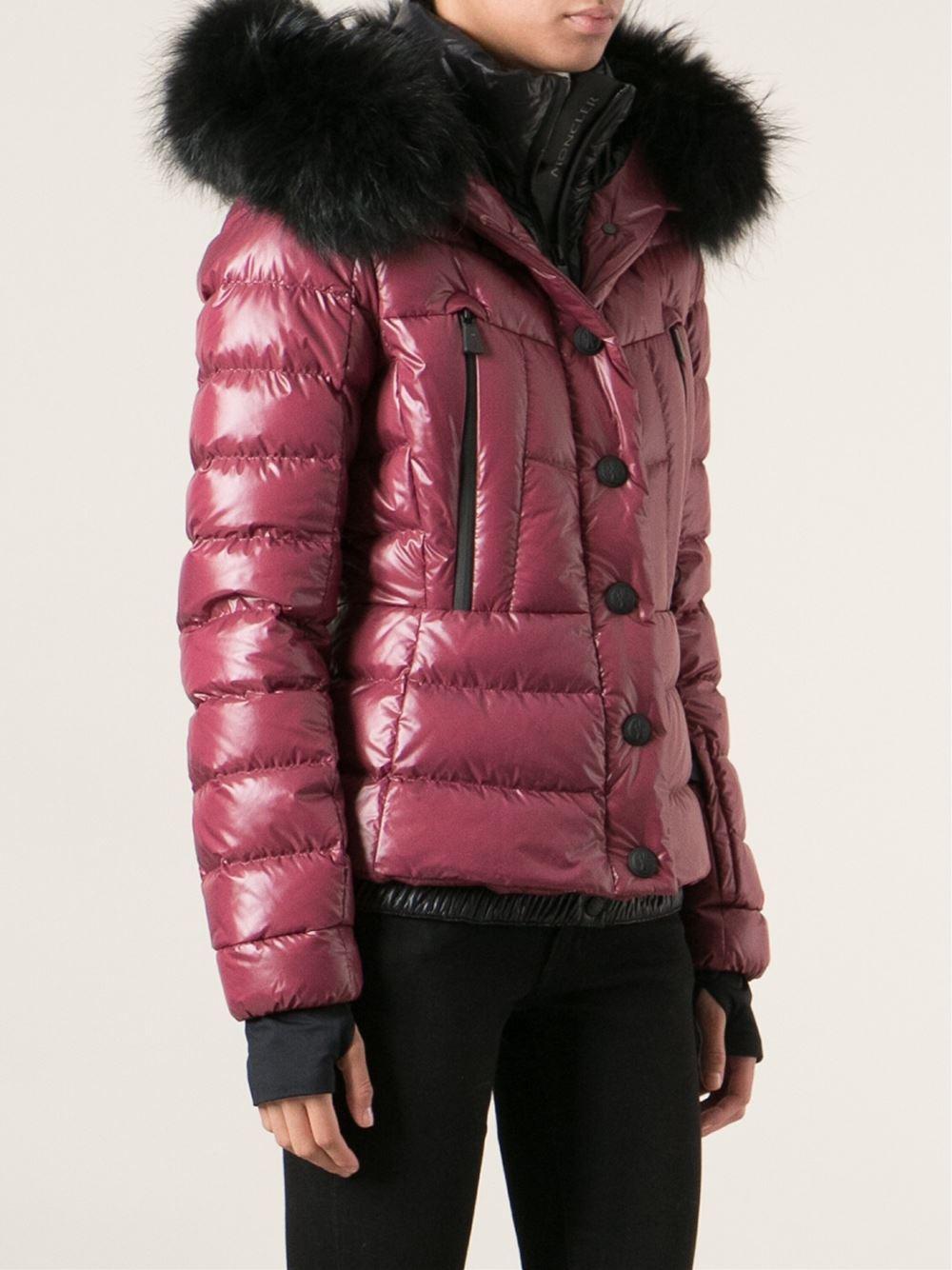 e293f15f6 Moncler Grenoble Pink Fur Trim Padded Jacket