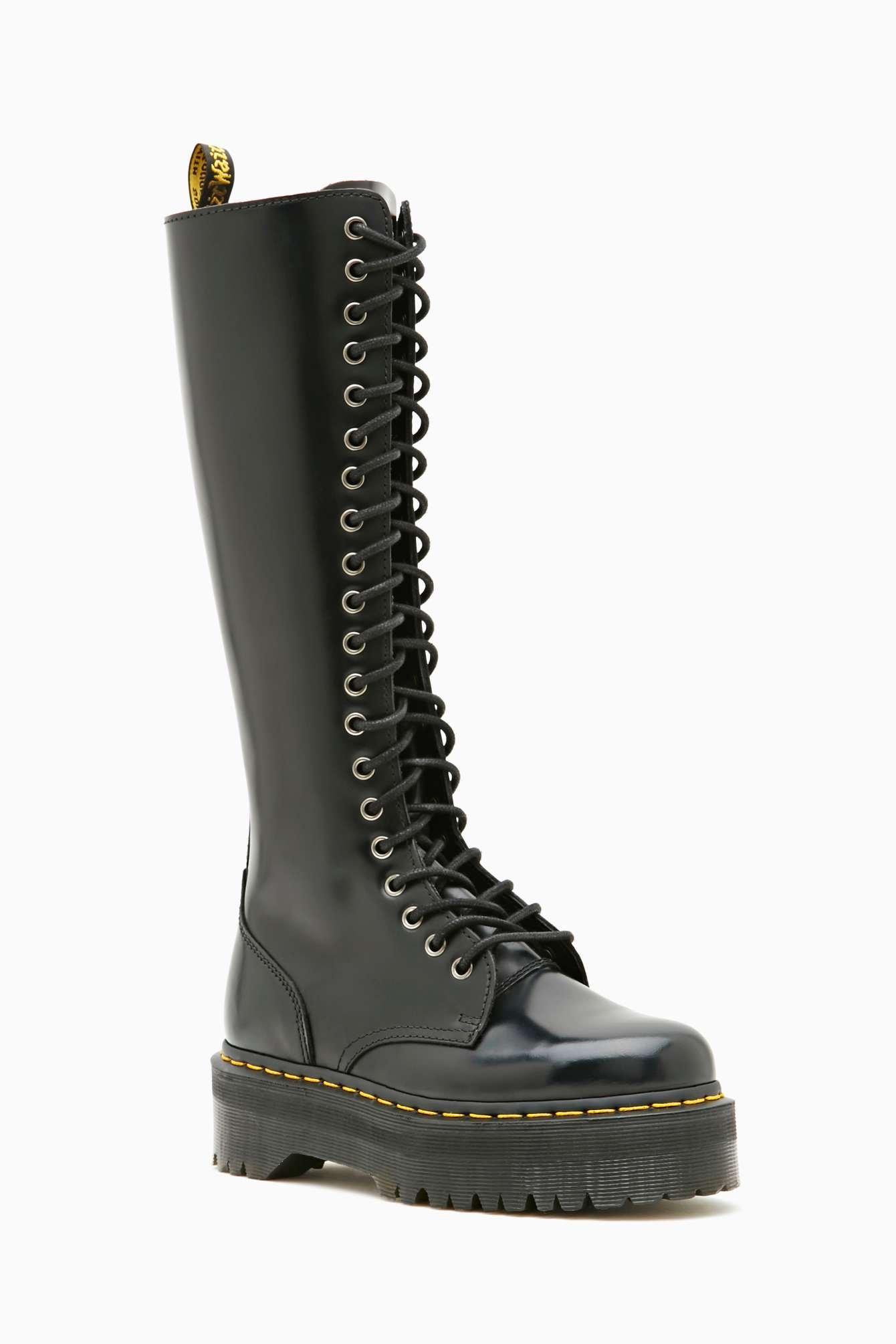 Nasty Gal Dr Martens Britain 20 Eye Boot In Black Lyst