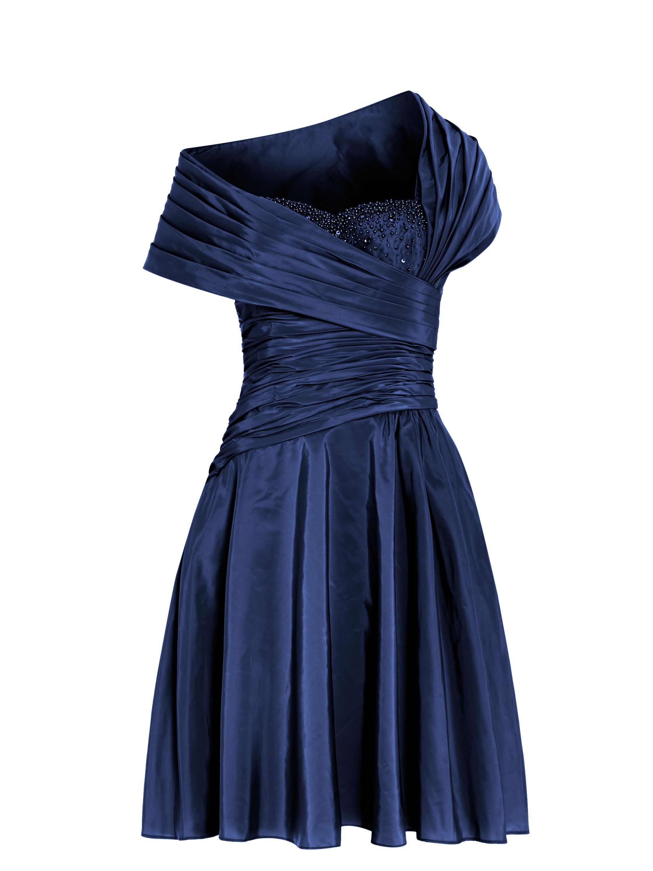 Anoushka G Monica 1950 S Gathered Dress In Blue Lyst