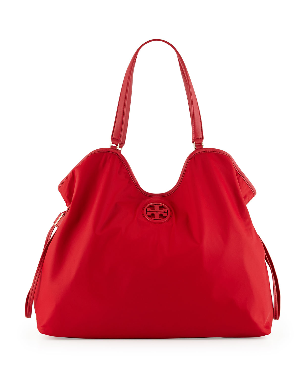 c22f6cfe72e Lyst - Tory Burch Nylon Slouchy Tote Bag in Red