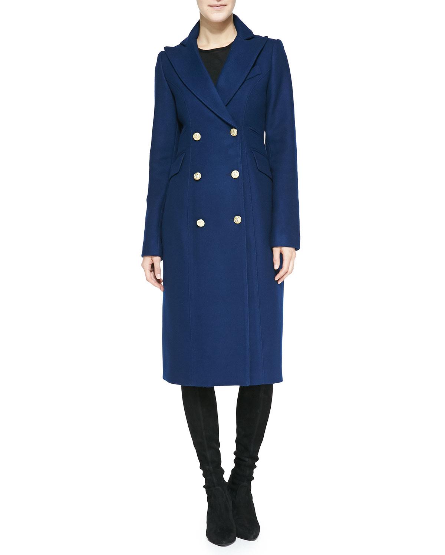 Smythe reefer coat in blue royal lyst for Smythe designer
