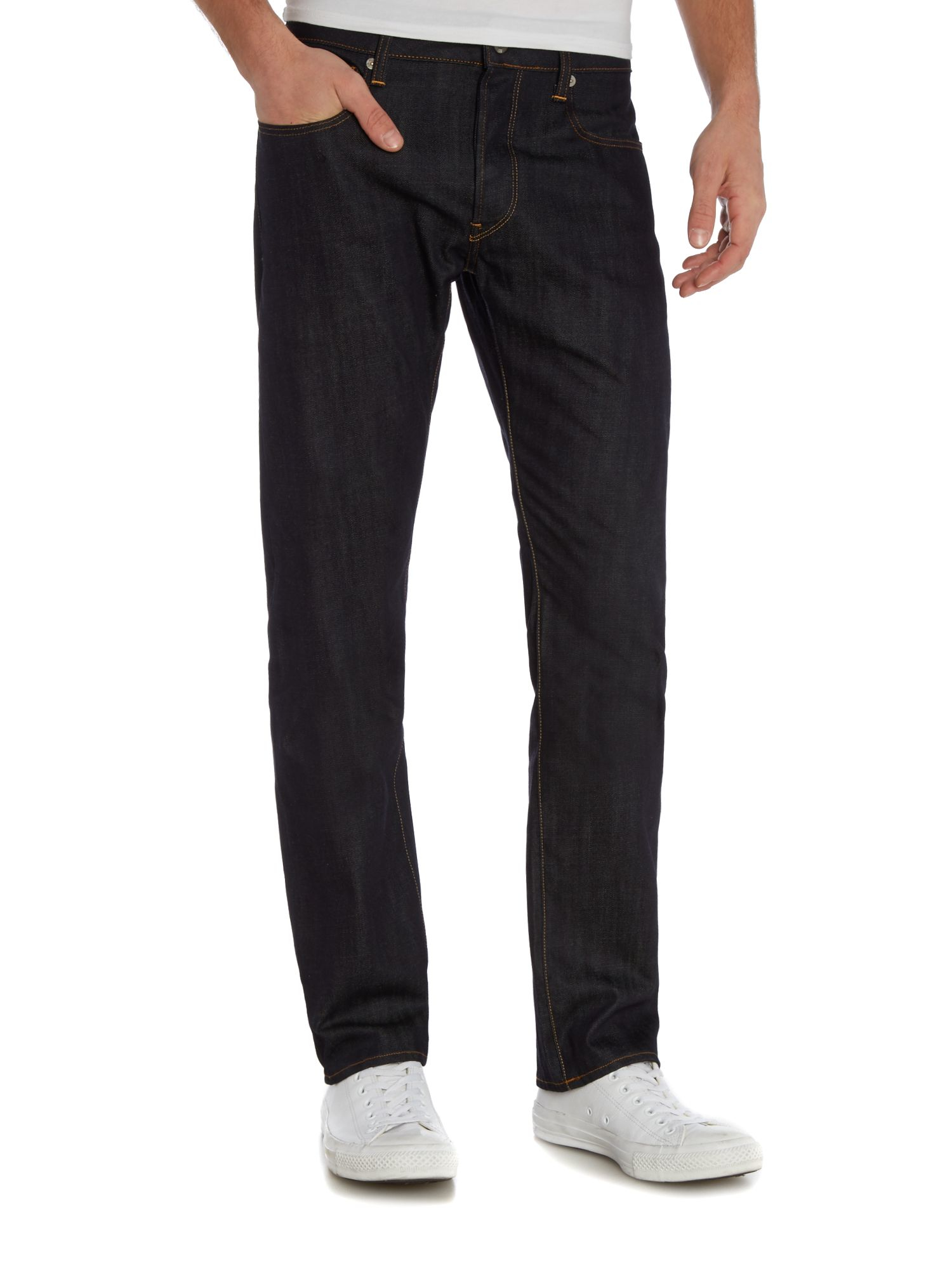 g star raw 3301 raw straight leg jeans in blue for men lyst. Black Bedroom Furniture Sets. Home Design Ideas