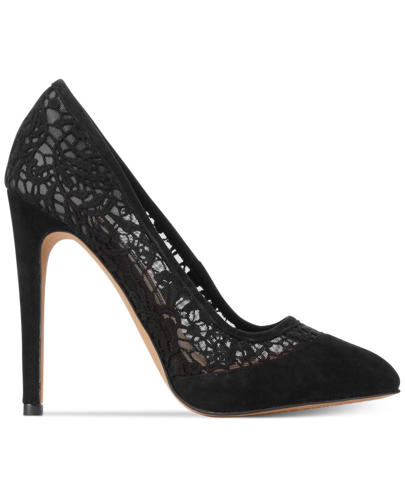 5b460c7287 French Connection Camleigh Lace Pumps in Black - Lyst