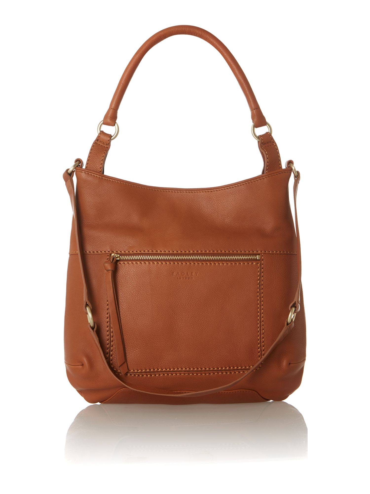 Radley Berkeley Tan Large Scoop Leather Hobo Bag in Brown | Lyst