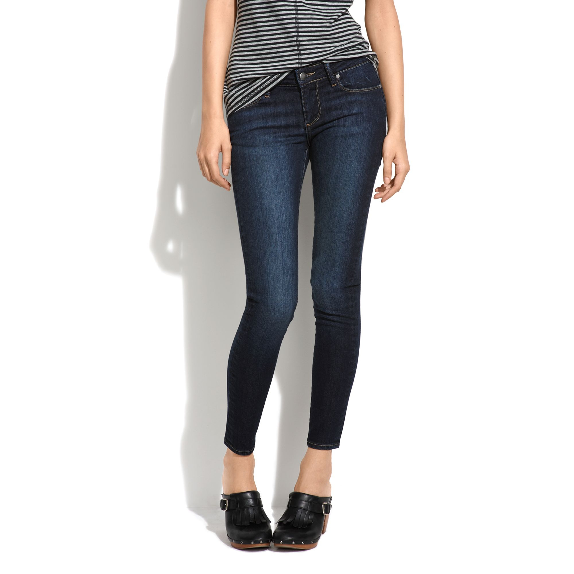 Madewell Paige® Skyline Ankle Peg Jeans In Super Rebellious in Blue