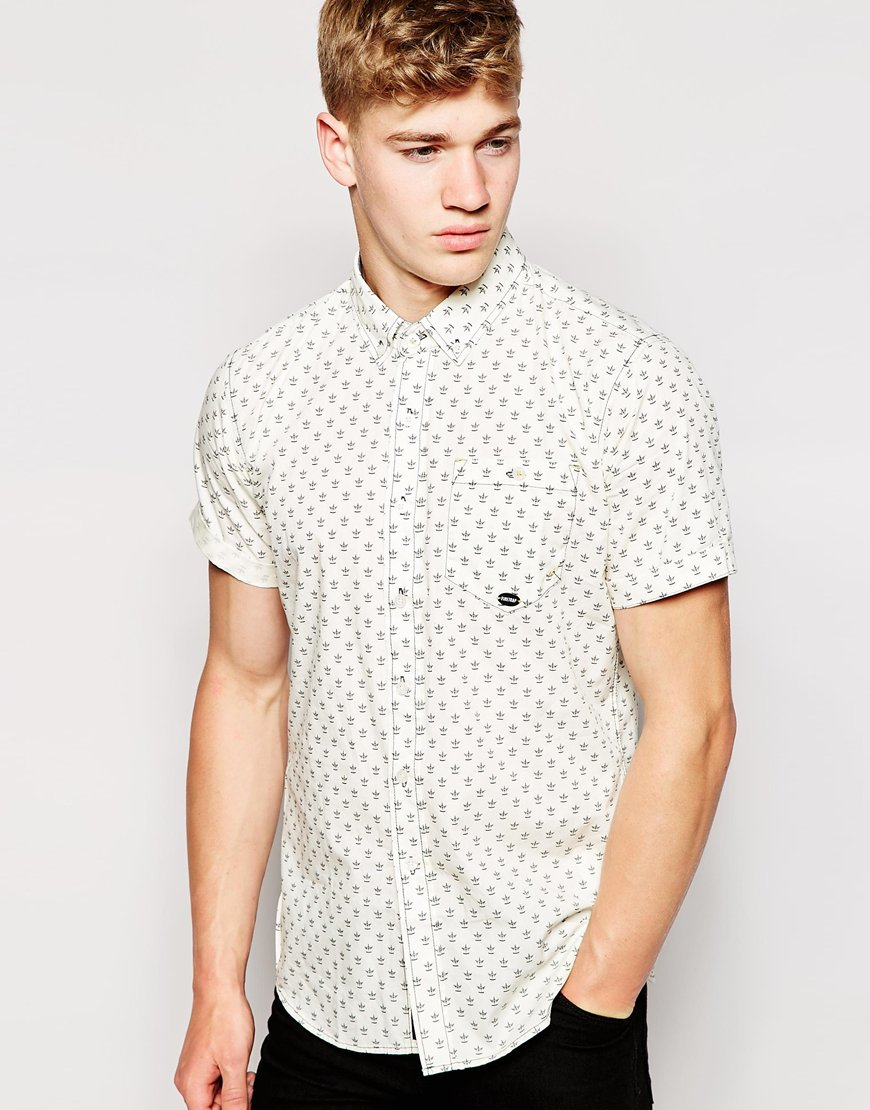 Lyst Firetrap Short Sleeve Printed Shirt In Natural For Men