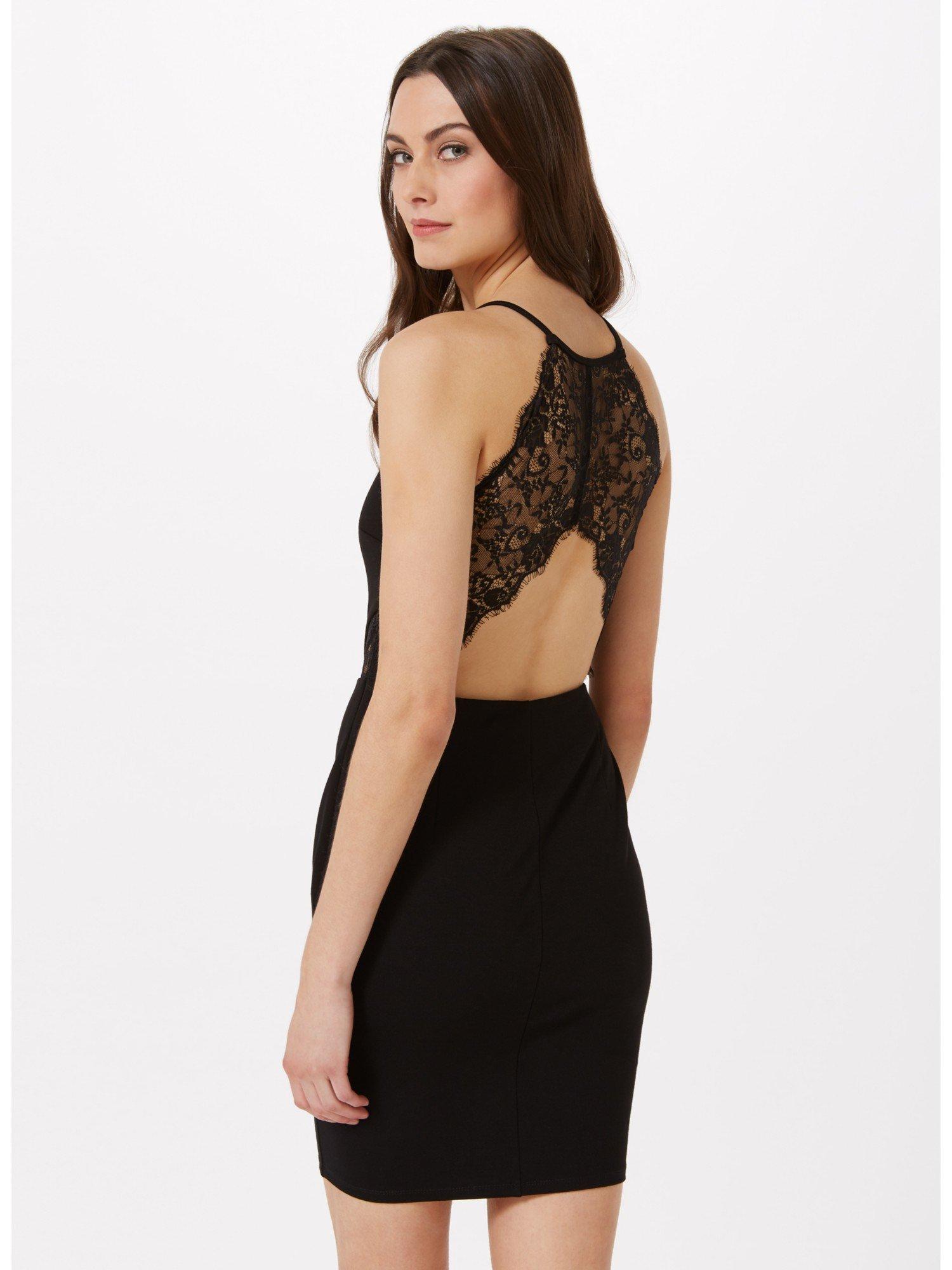 India black bodycon dress miss selfridge x full douglas black and