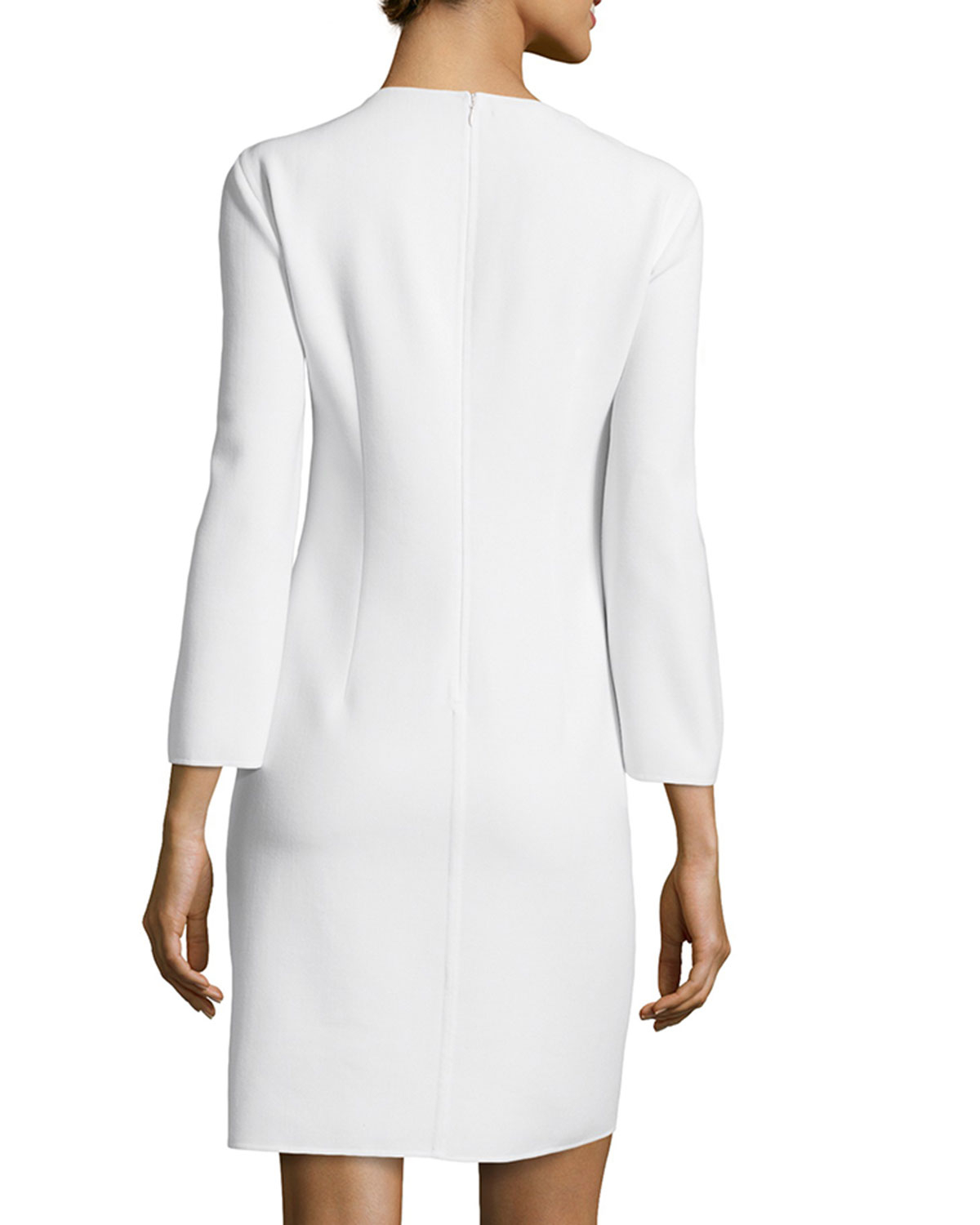 24f55b17466 Lyst - Michael Kors Long-sleeve Chain-front Tunic Dress in White