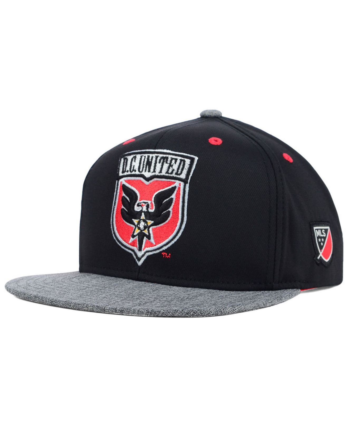 newest 18b47 7d5fe ... inexpensive lyst adidas dc united team snapback cap in black for men  fd2c8 f6793