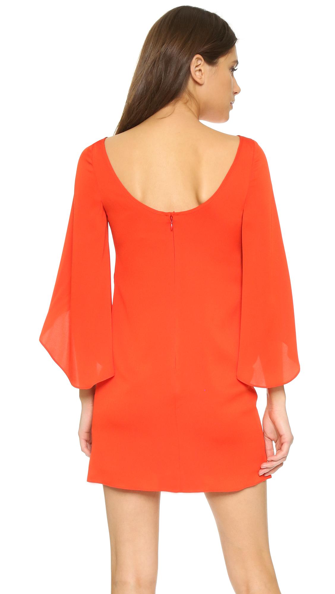 Milly Butterfly Dress in Orange