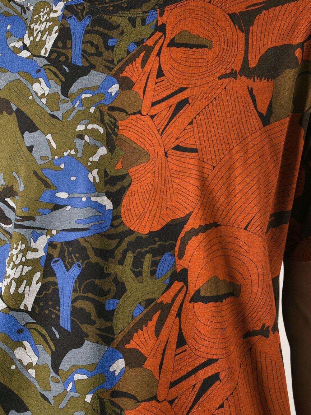 lyst moncler gamme rouge abstract floral print t shirt for men. Black Bedroom Furniture Sets. Home Design Ideas