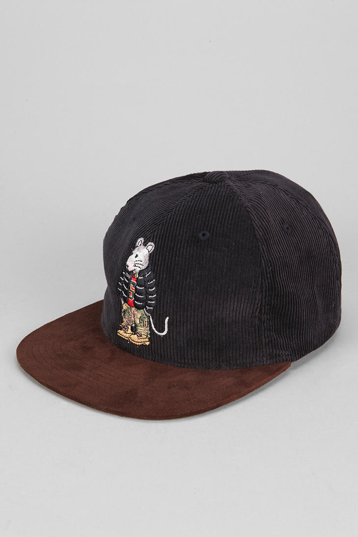 Lyst Urban Outfitters Stussy Rat Corduroy Snapback Hat
