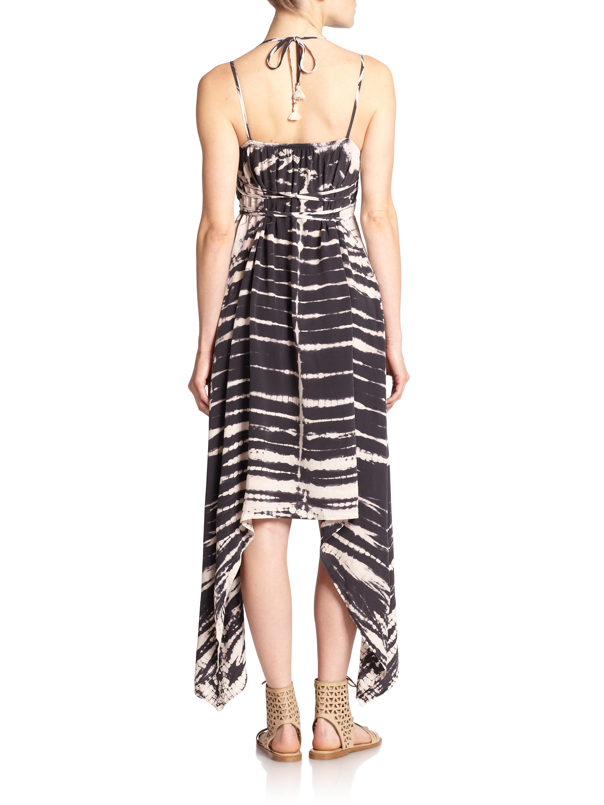 lyst gypsy 05 tie dye silk maxi dress in black. Black Bedroom Furniture Sets. Home Design Ideas