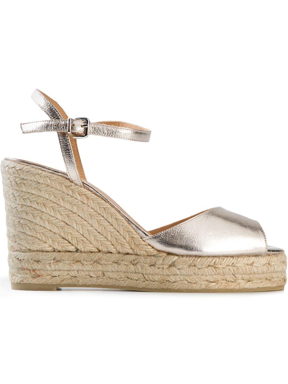 e41bcfca83f Castaner Metallic 'Audrey' Espadrille Wedge Sandals