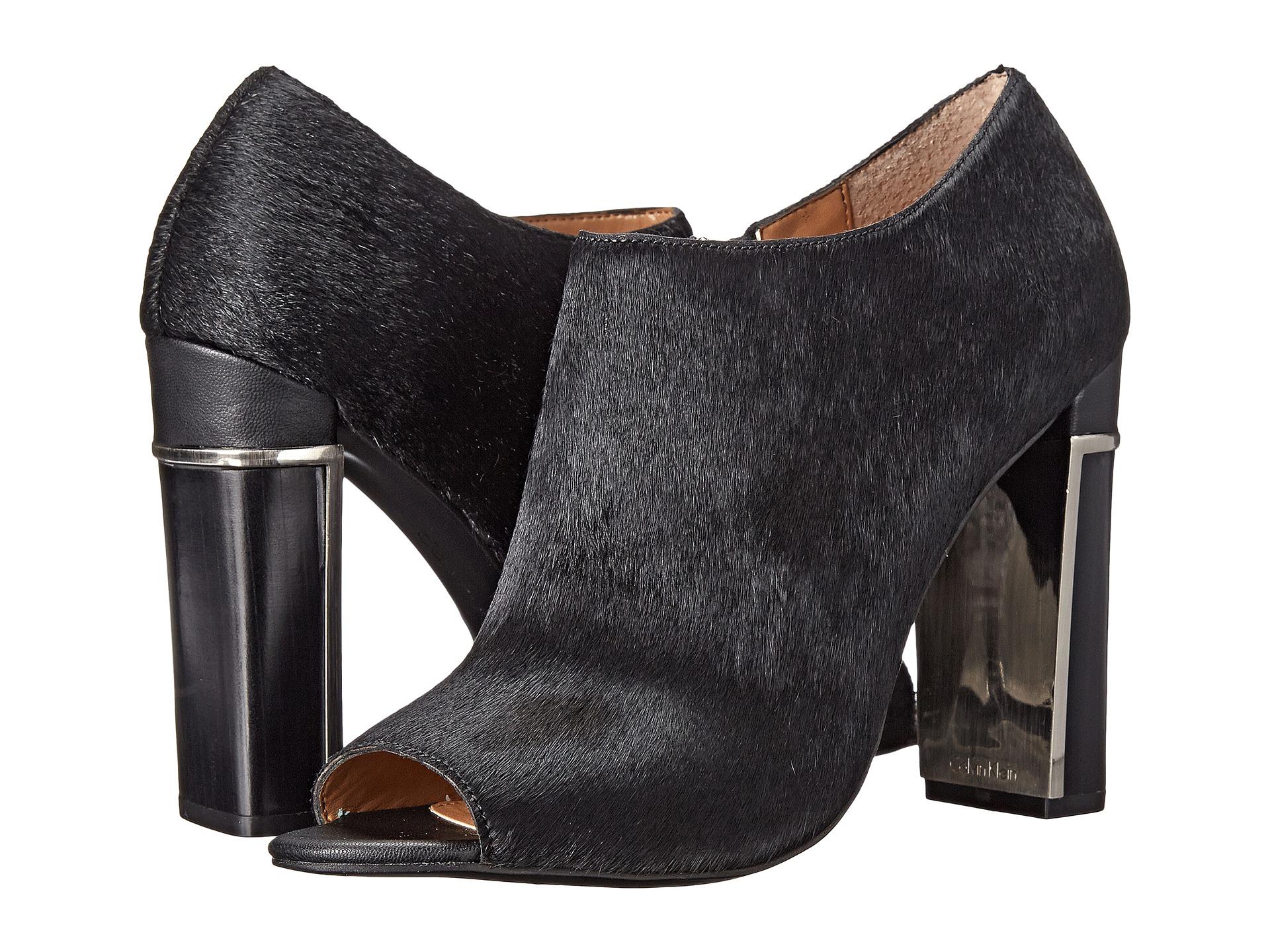 Womens Shoes Calvin Klein Karmen Black Hair Calf/Sheep Nappa