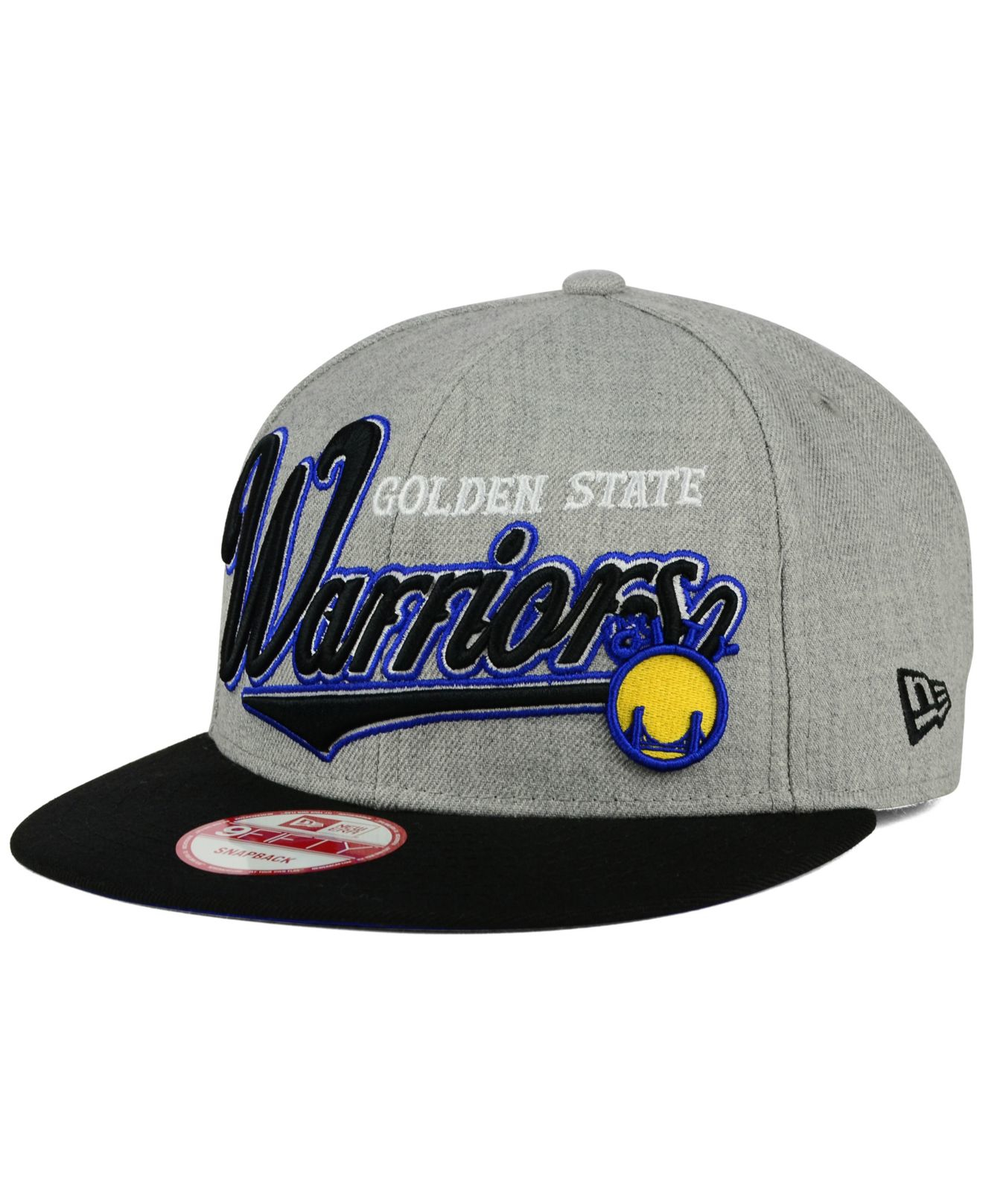 reputable site 699da 9a61d ... new style lyst ktz golden state warriors big heather 9fifty snapback cap  in fa54d 7e850