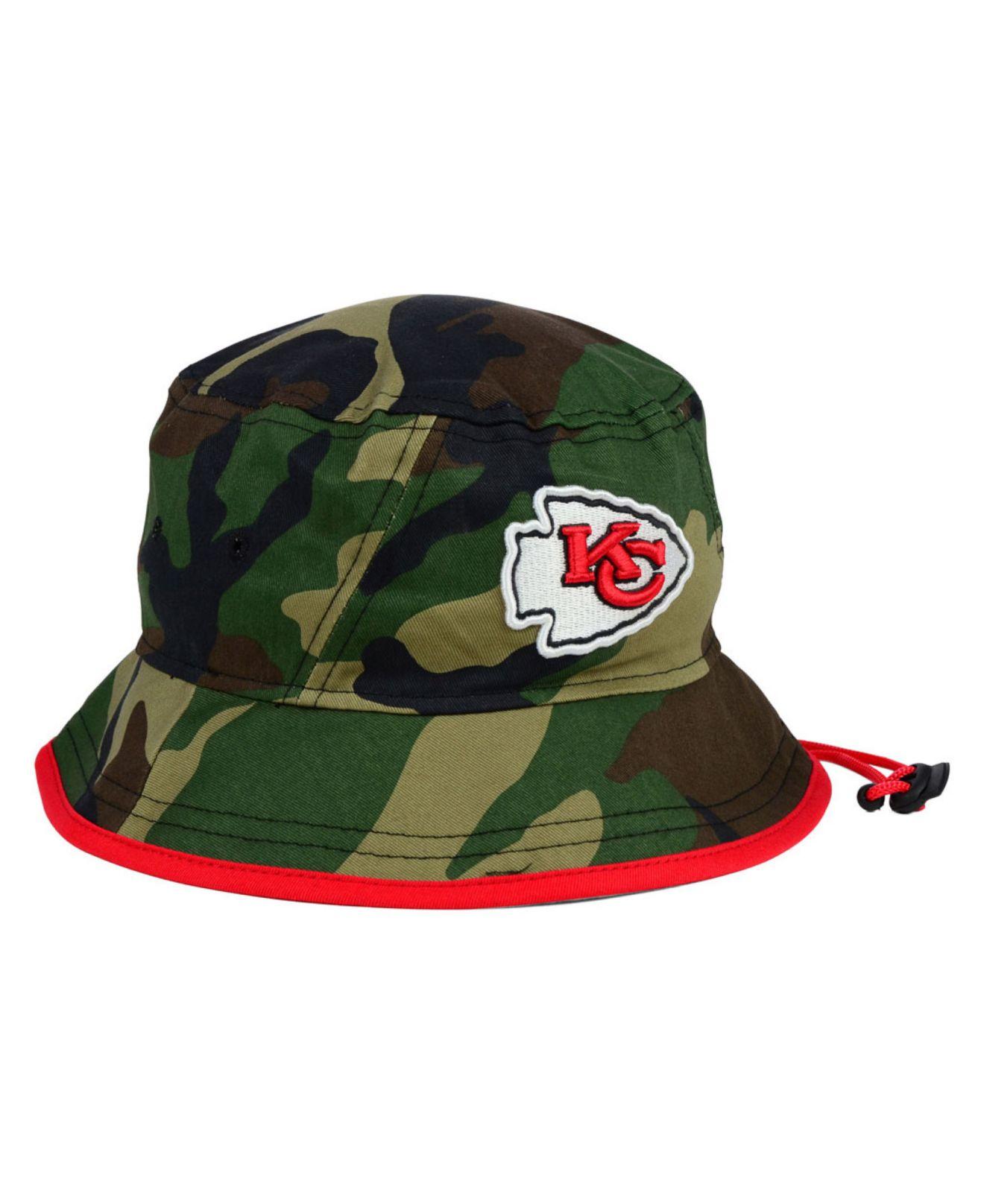 a305a0a81 Lyst - KTZ Kansas City Chiefs Camo Pop Bucket Hat in Green for Men