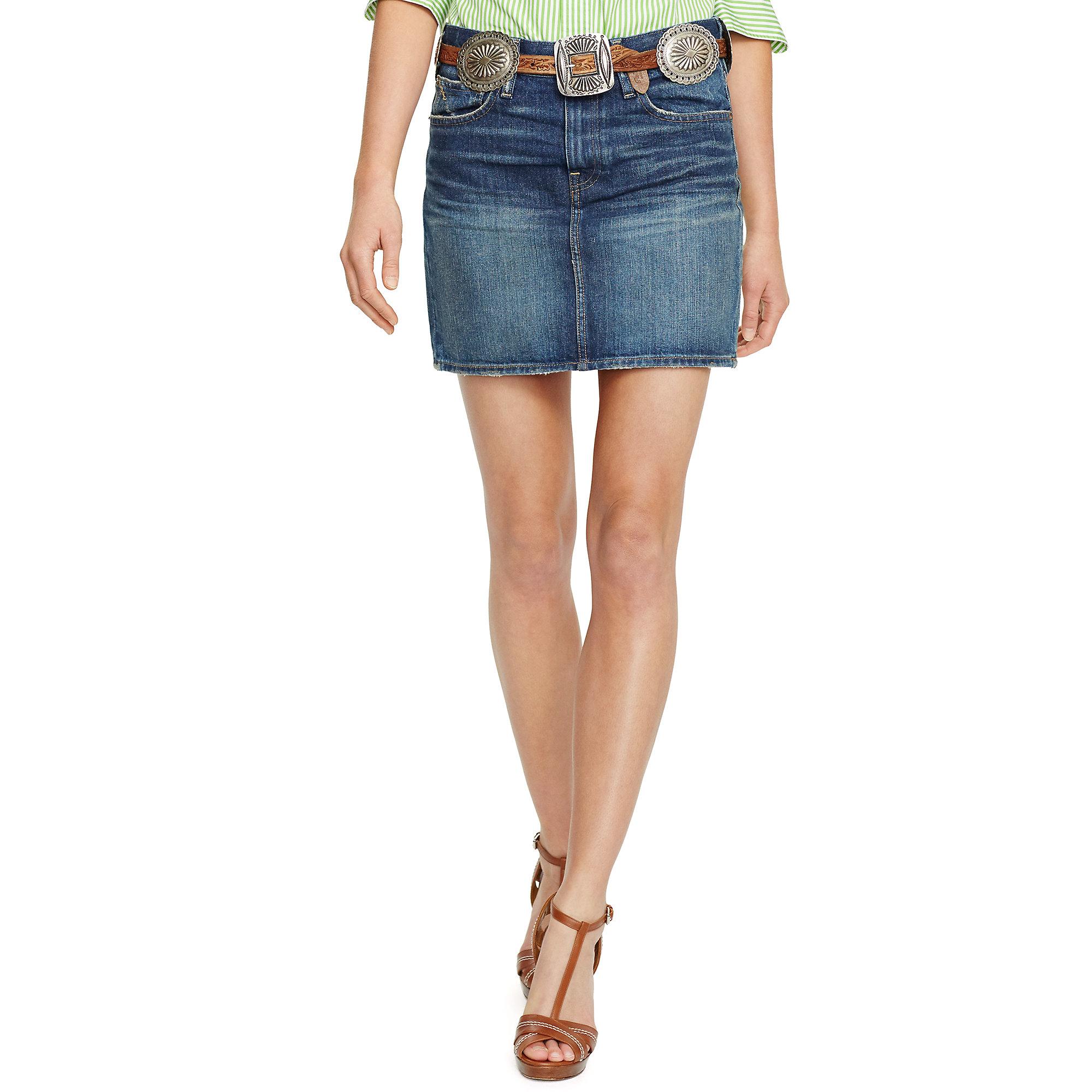 a0d0cc7ca5 Polo Ralph Lauren Blue Denim Miniskirt