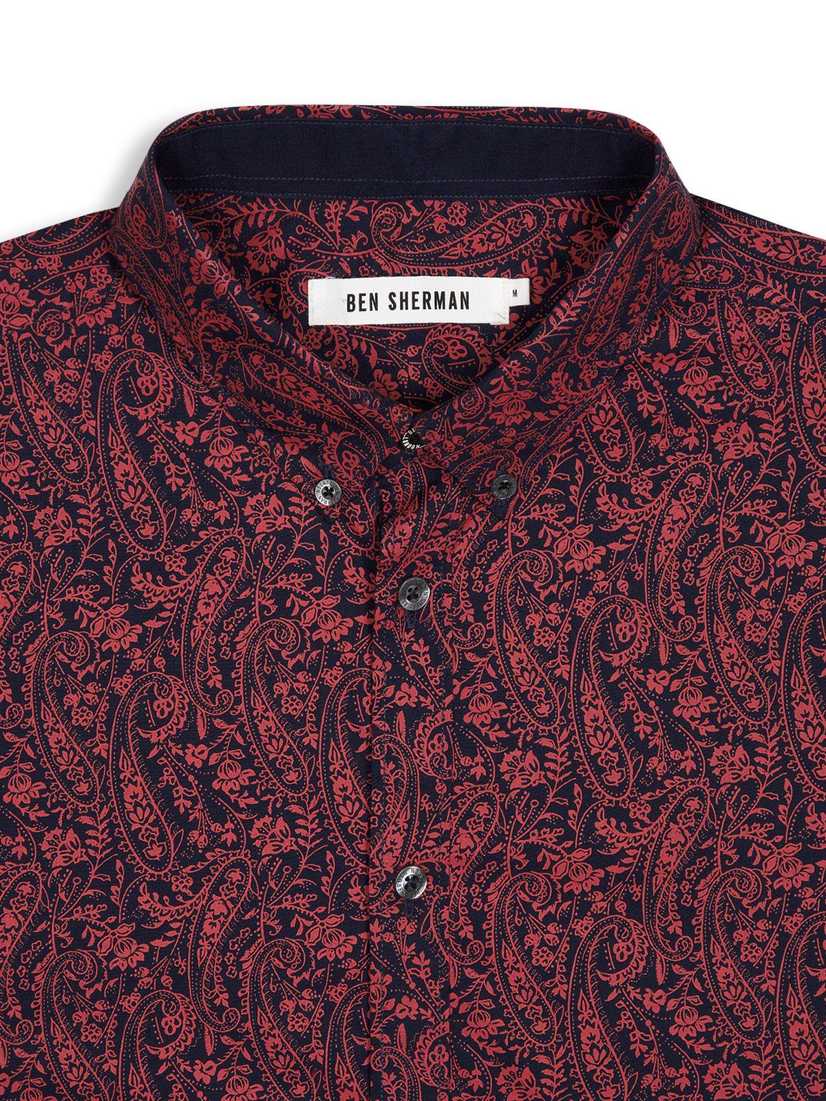 Ben sherman Paisley Shirt in Black for Men