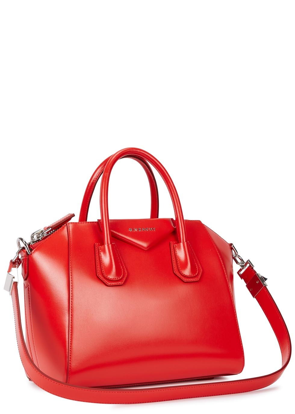 Givenchy Antigona Small Bright Red Leather Tote in Red - Lyst 6ea18c9e16315